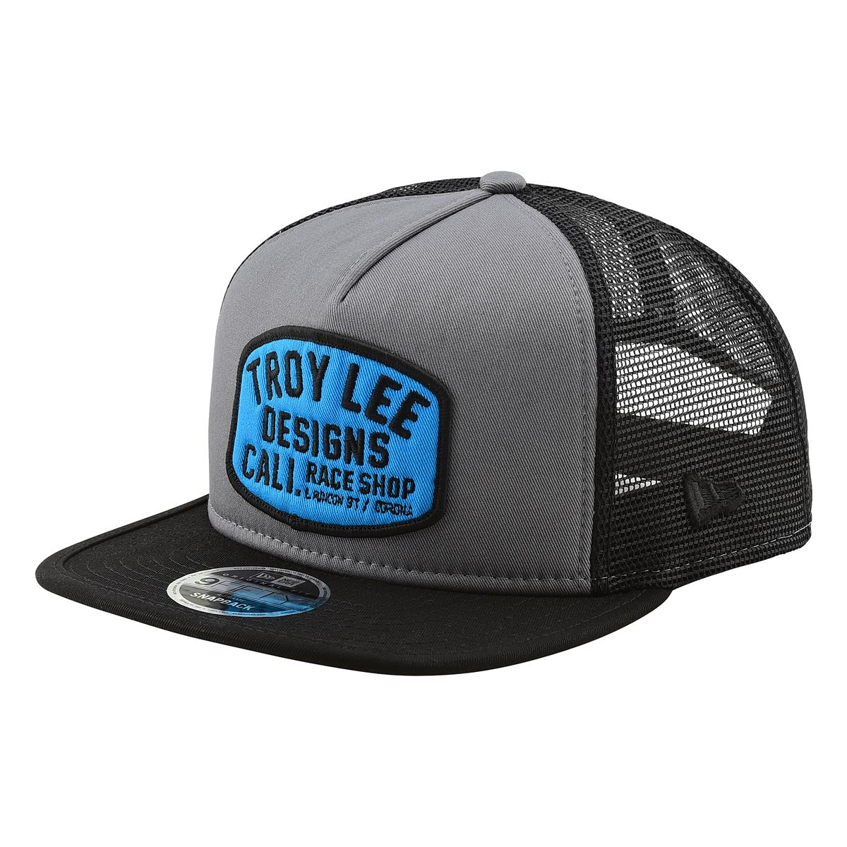 Troy Lee Designs Snapback Cap Blockworks Storm Grey/Blue