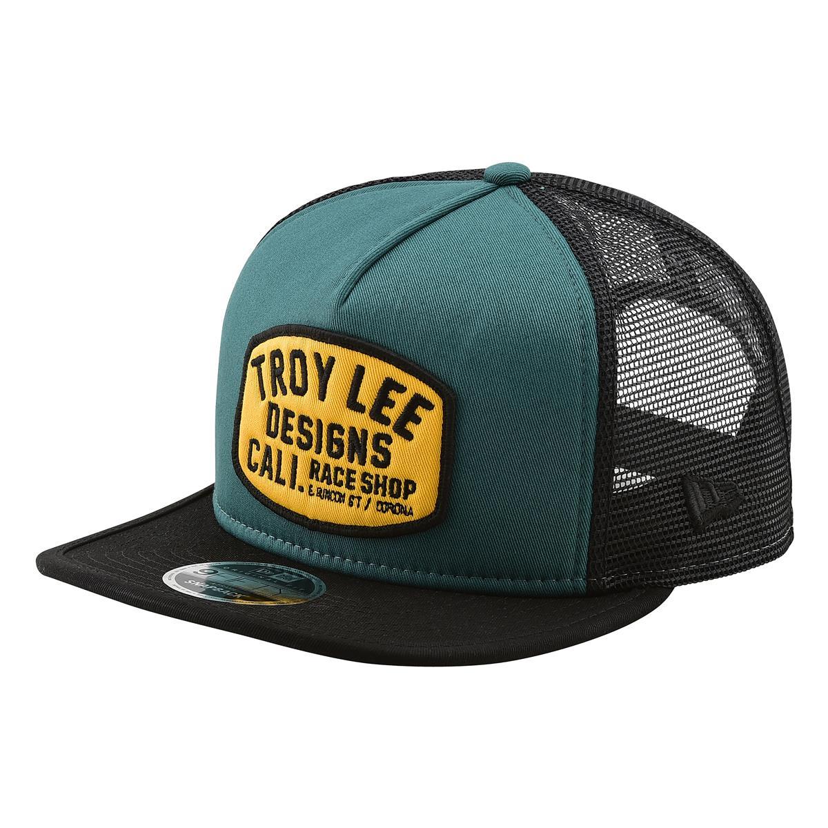 Troy Lee Designs Snapback Cap Blockworks Pine Needle Green/Gold