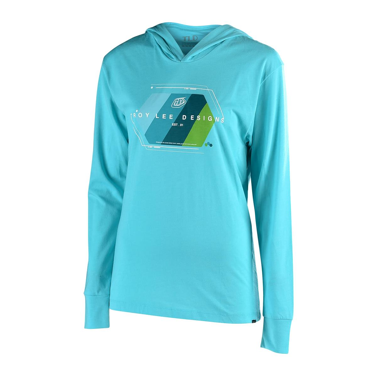 Troy Lee Designs Girls Hoodie Technical Fade Tahiti Blue