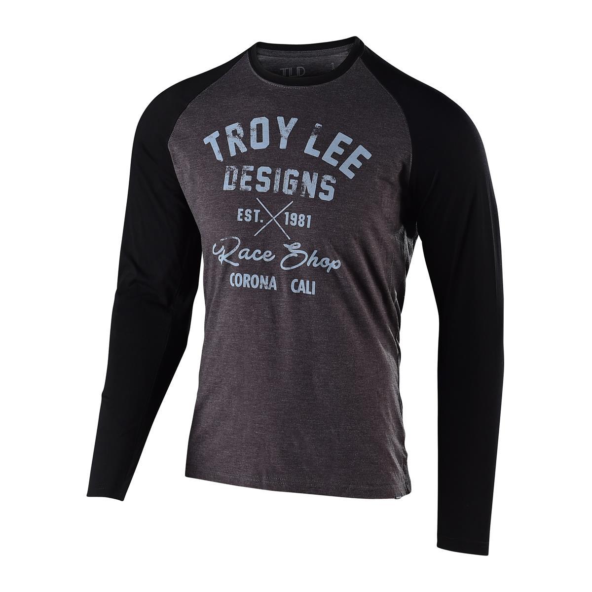 Troy Lee Designs Langarmshirt Vintage Race Shop Charcoal/Schwarz