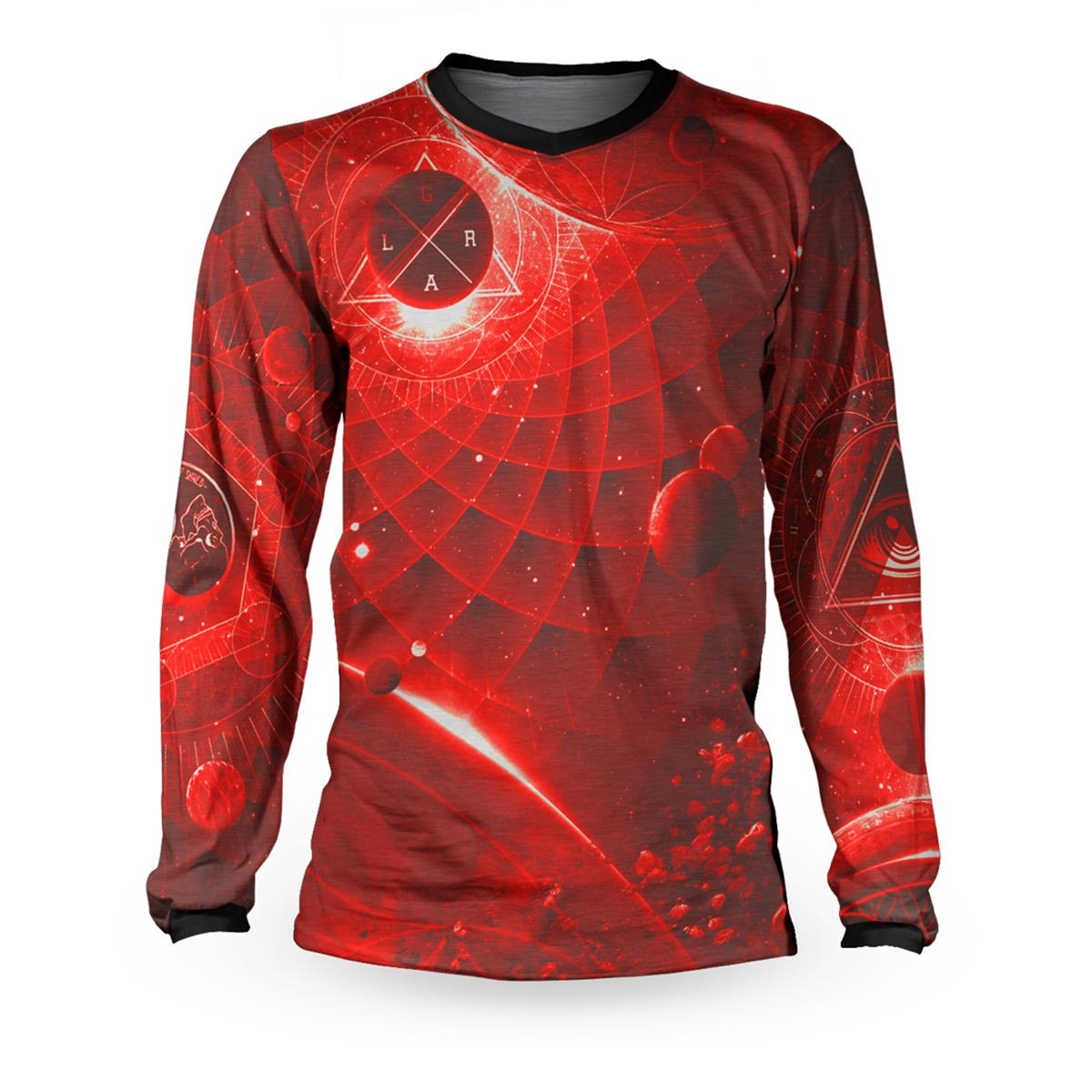 Loose Riders Downhill-Jersey Langarm Cult of Shred Mythos - Rot