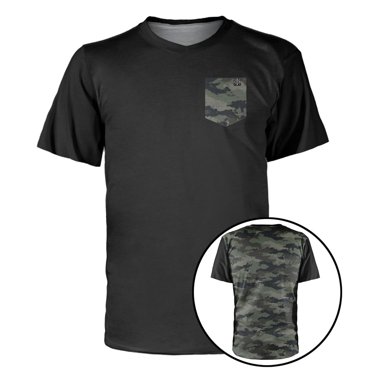 Loose Riders Trail-Jersey Kurzarm Cult of Shred Schwarz/Camo