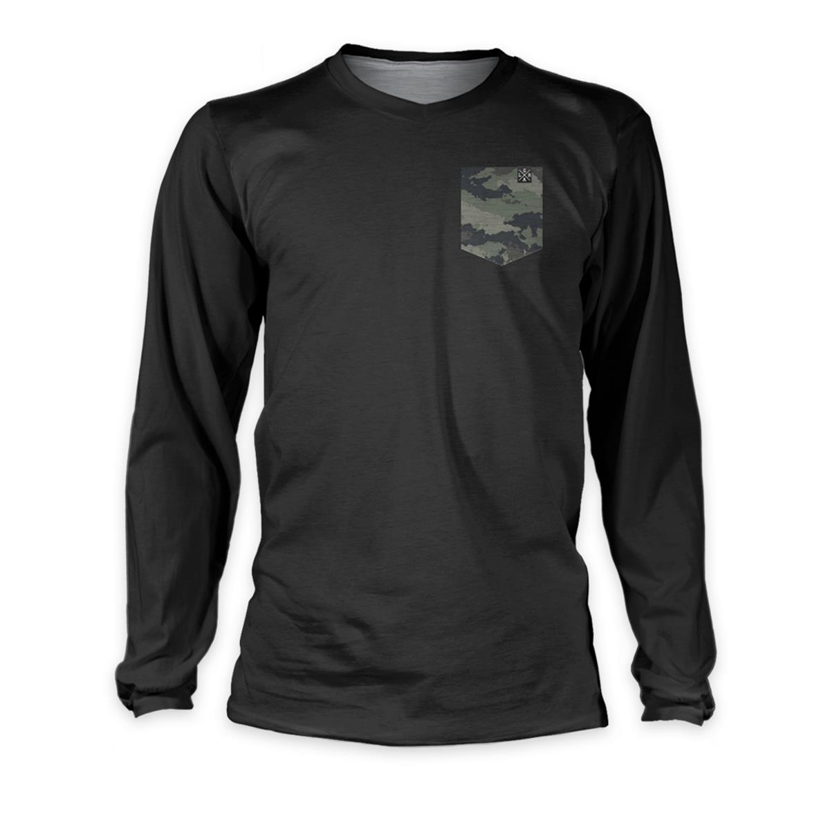 Loose Riders Downhill-Jersey Langarm Cult of Shred Schwarz/Camo
