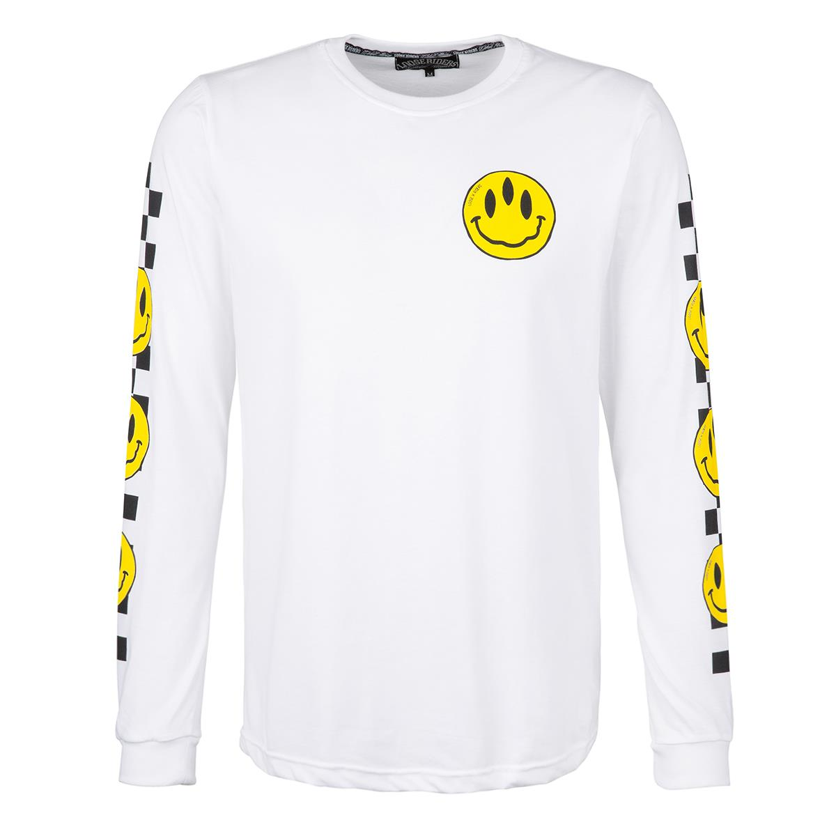 Loose Riders Sweatshirt  Stoked! - Weiß/Schwarz/Gelb