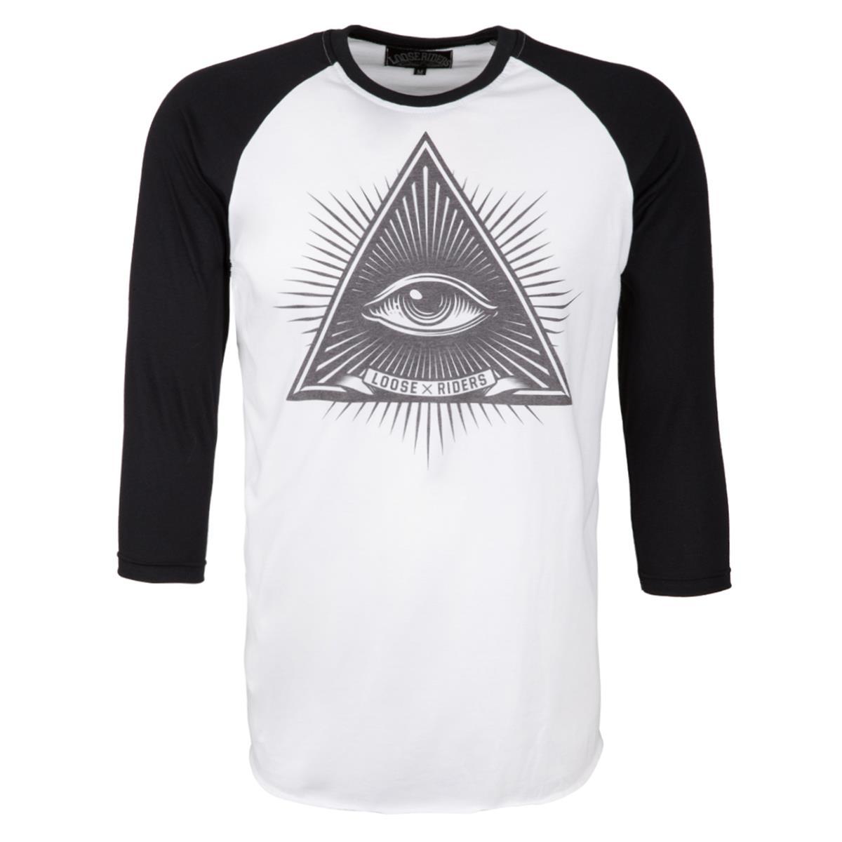 Loose Riders 3/4-Arm Shirt Third Eye Weiß/Schwarz