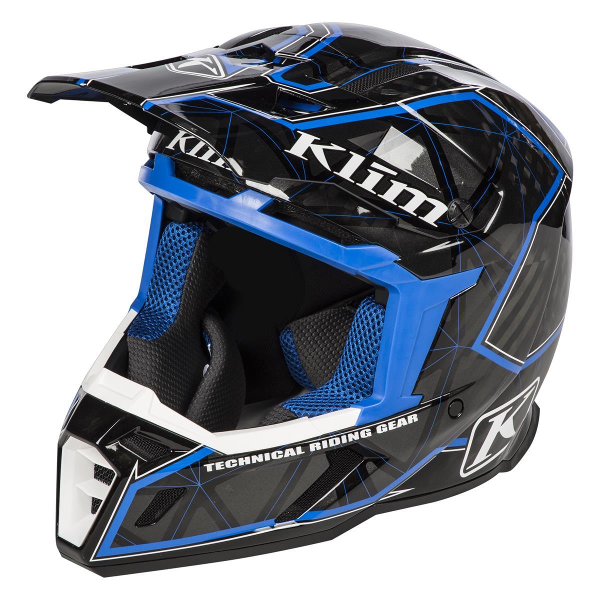 Klim Helm F5 Demolish Blue - Schwarz/Blau