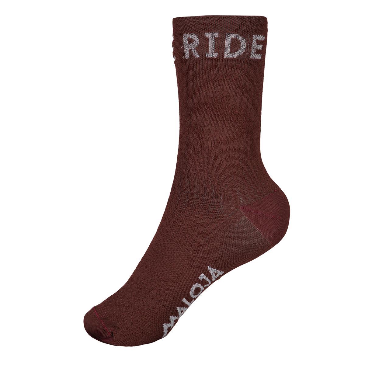 Maloja Bike-Socken RoevelM. Maroon