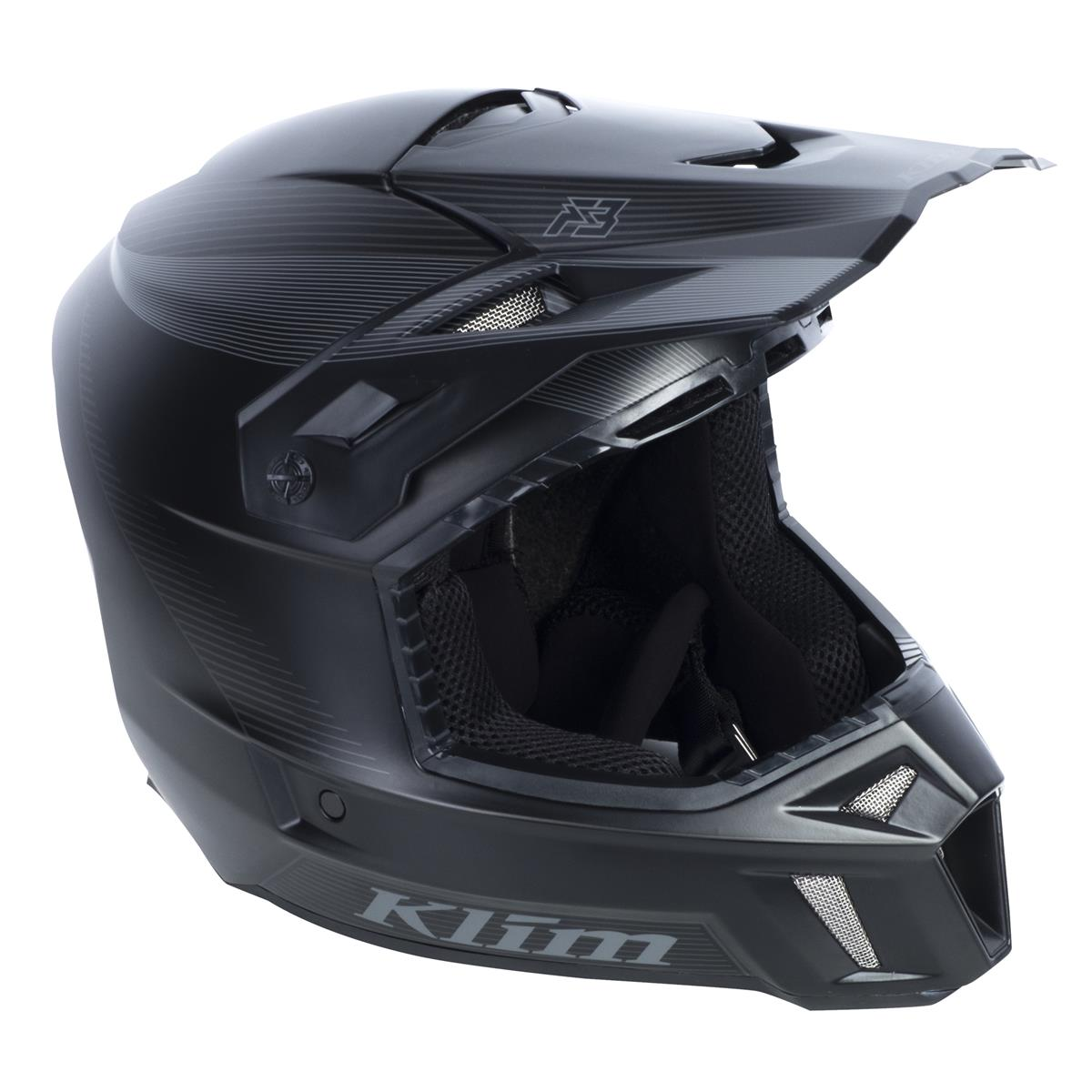 Klim Helm F3 Black Stealth