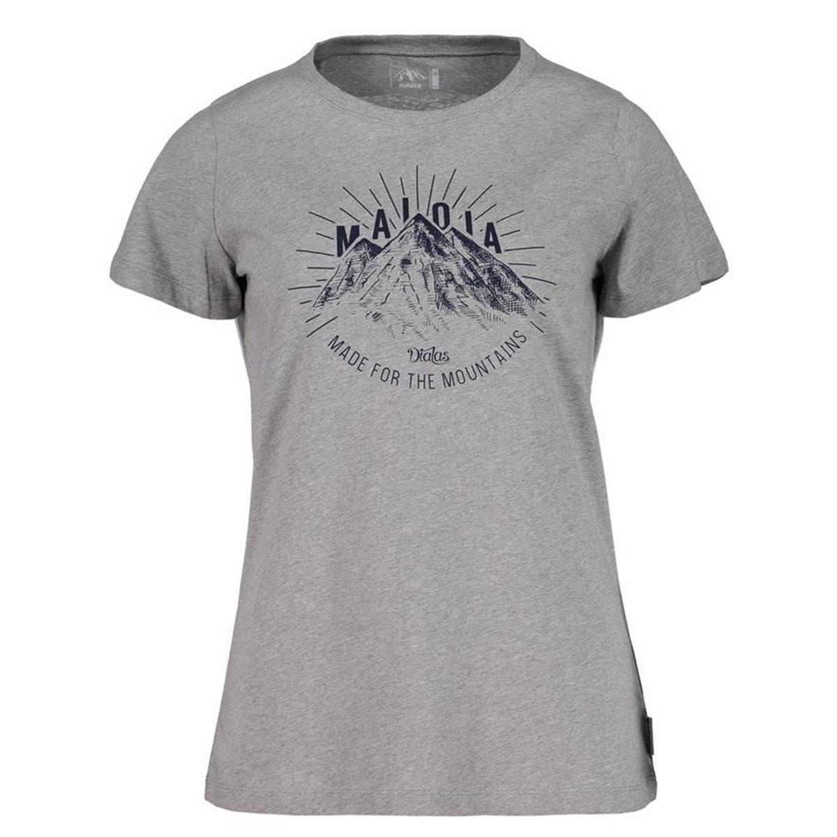 Maloja Girls T-Shirt RiccardaM. Grey Melange