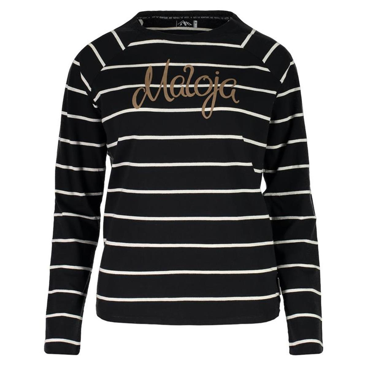 Maloja Girls Langarmshirt GurlainaM. Moonless Stripe