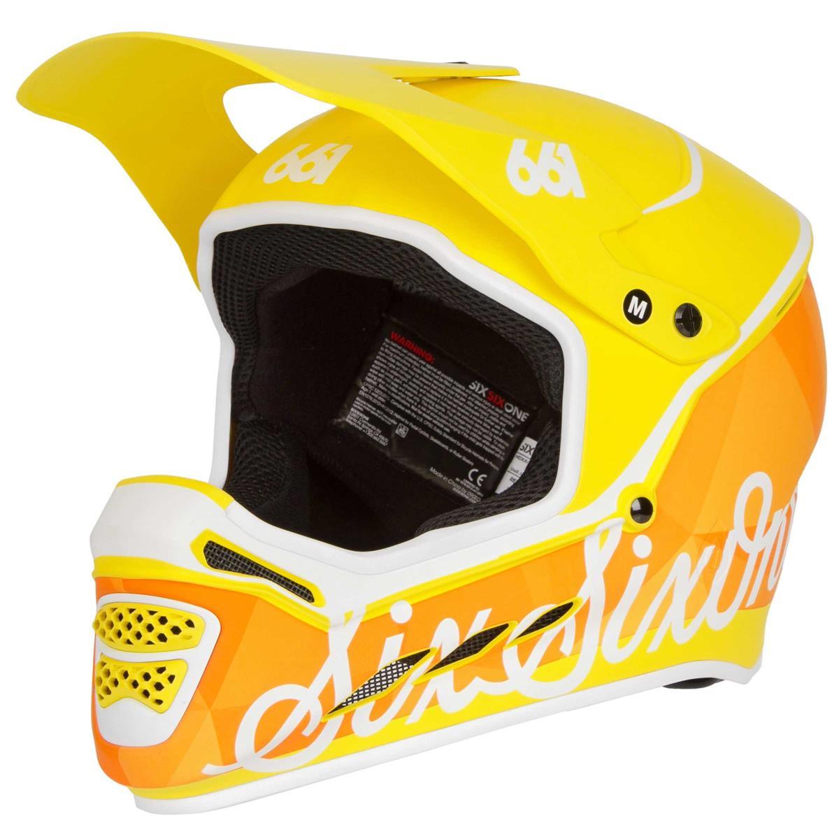 SixSixOne Downhill-MTB Helm Reset Geo Citrus