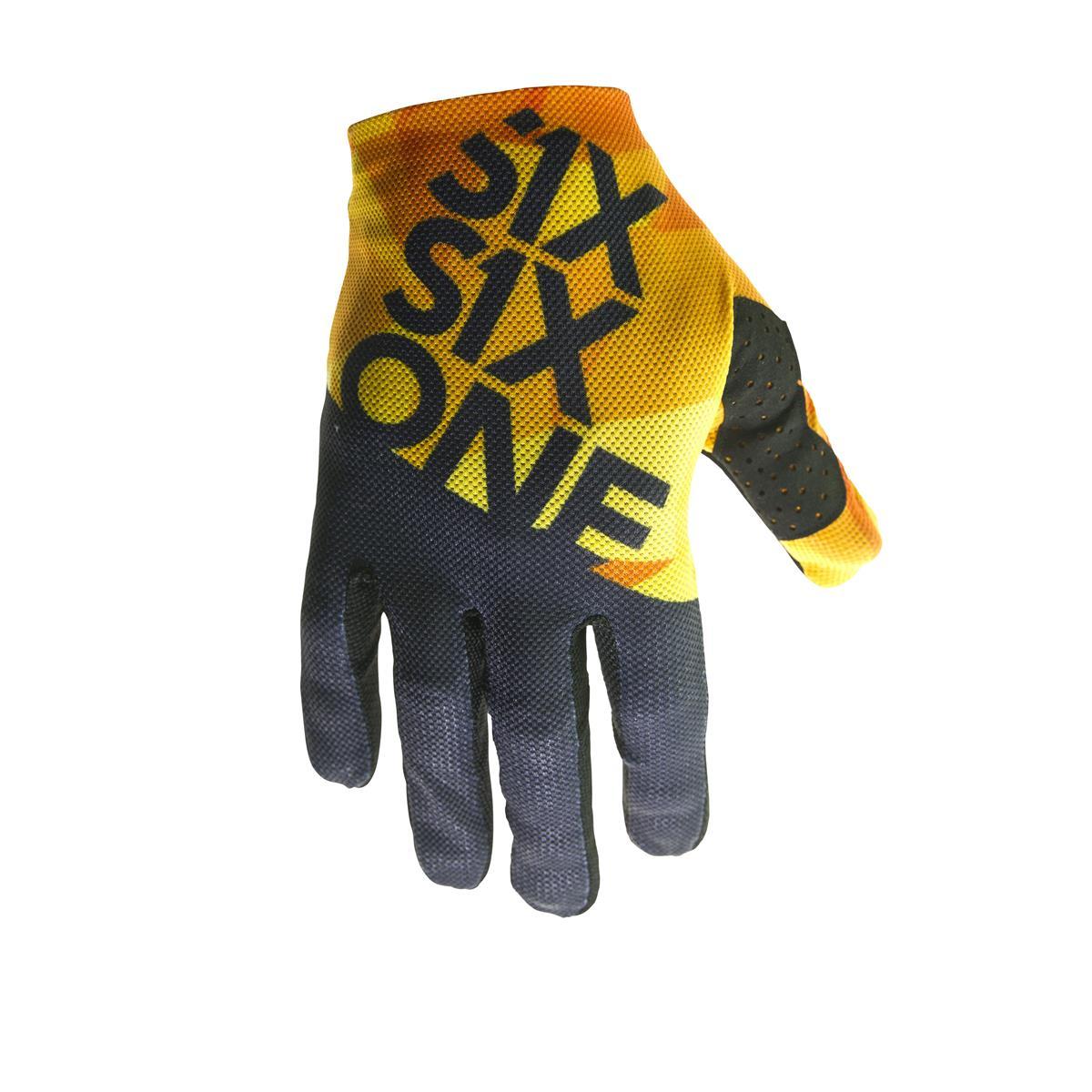 SixSixOne Bike-Handschuhe Raji Geo Blue Orange