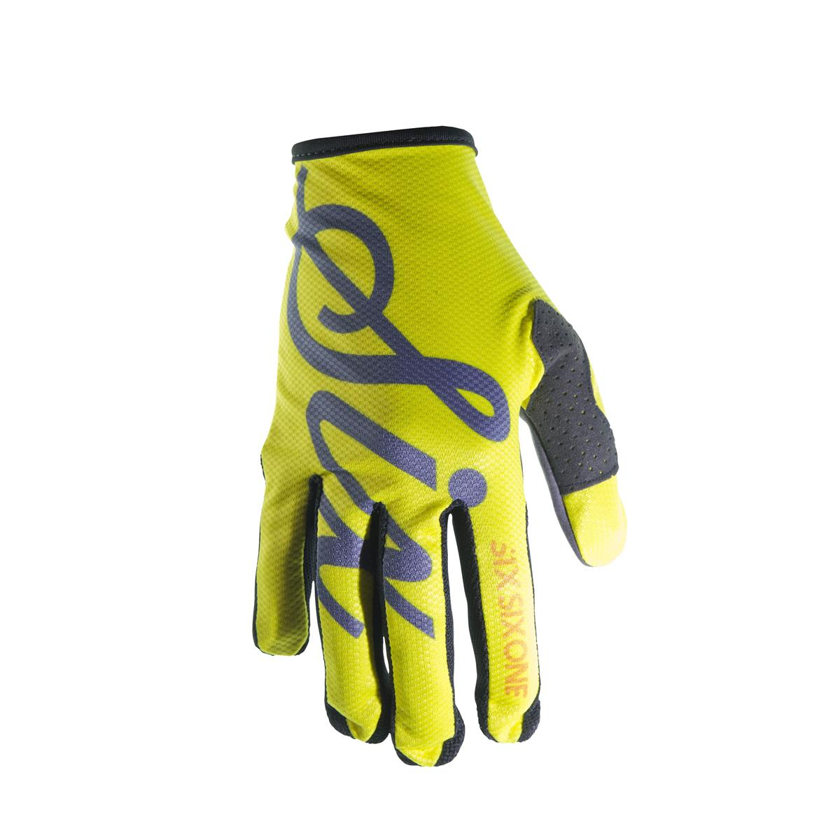 SixSixOne Bike-Handschuhe Comp Yellow Script