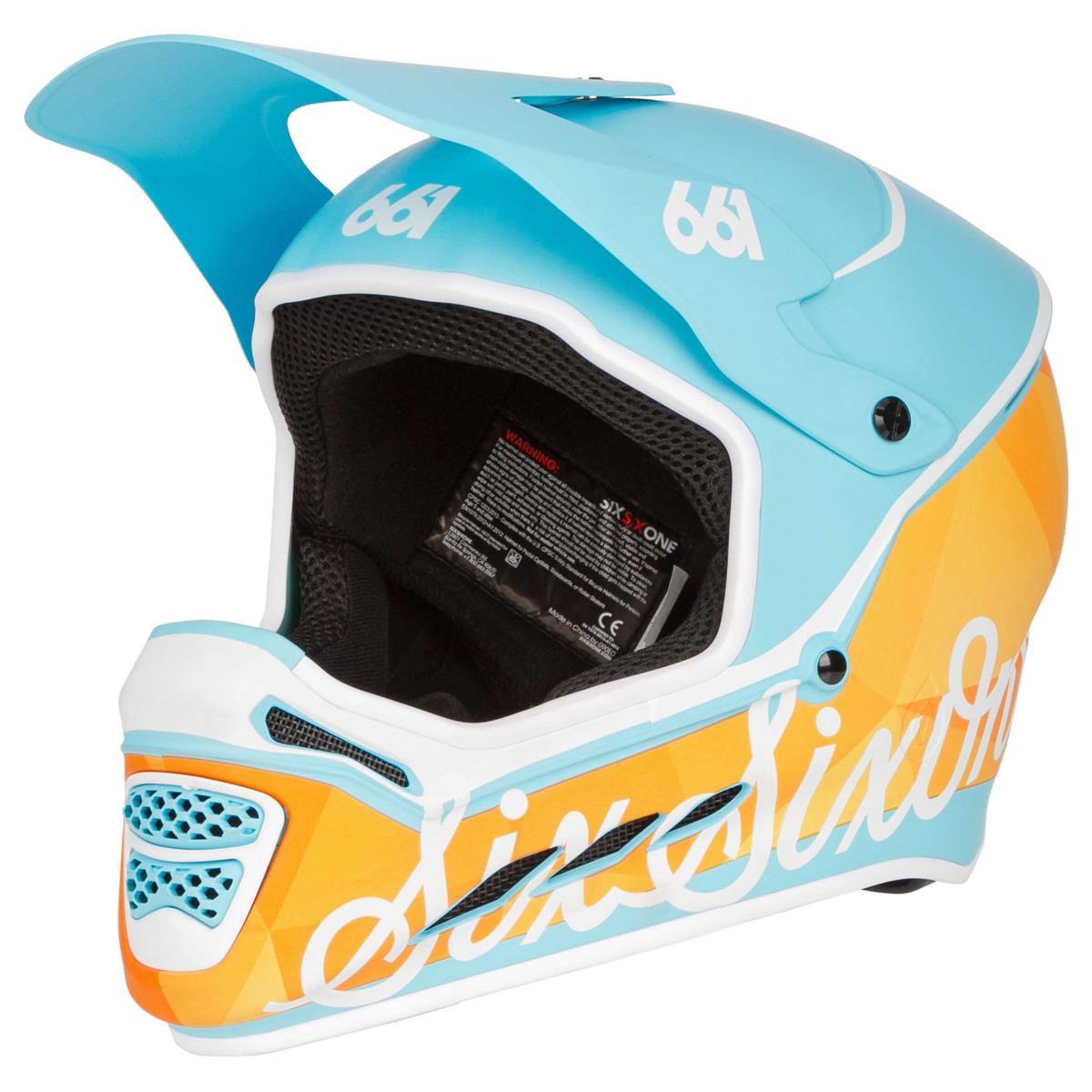 SixSixOne Downhill-MTB Helm Reset MIPS Geo Orange