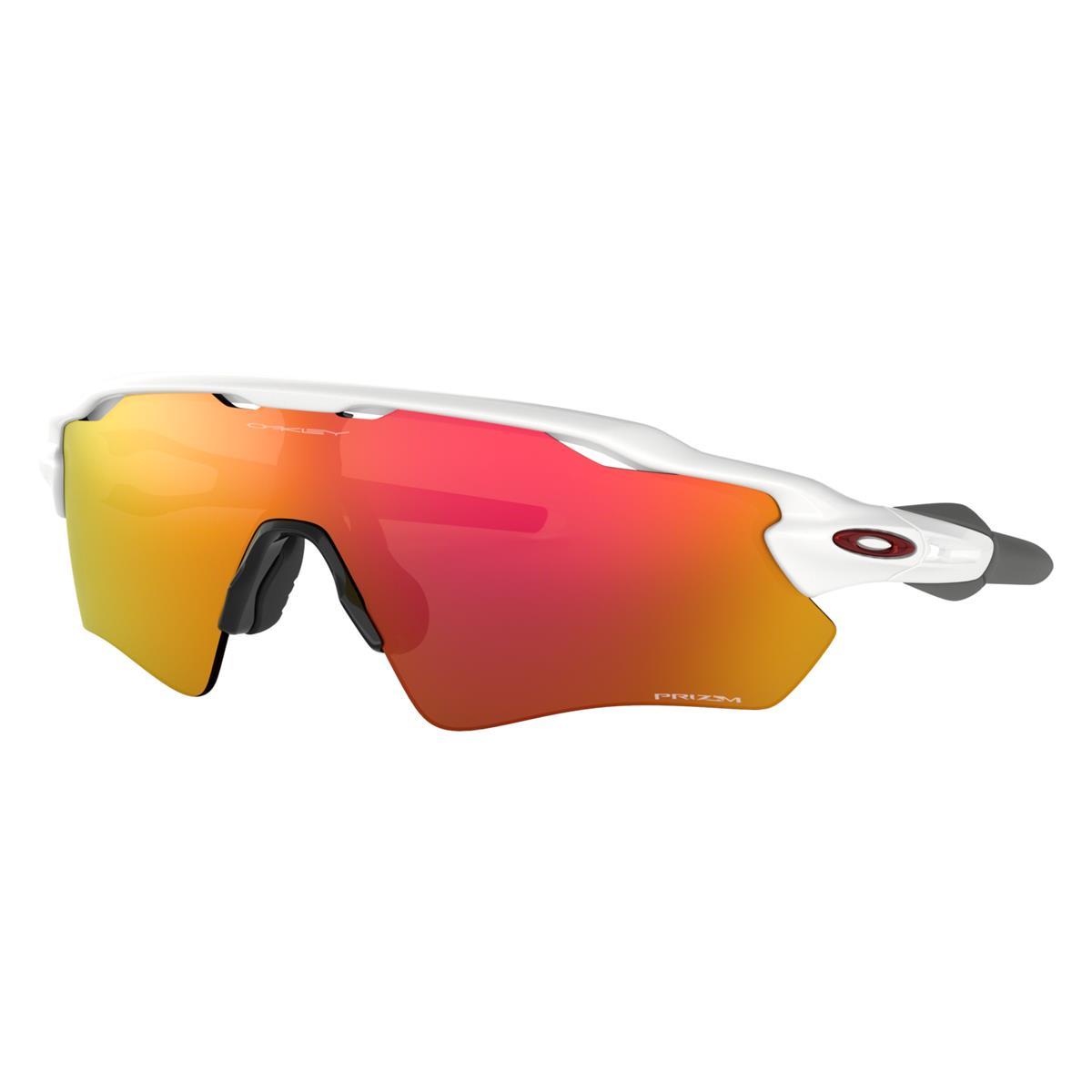 Oakley Sportbrille Radar EV Path Polished Weiß - Prizm Ruby