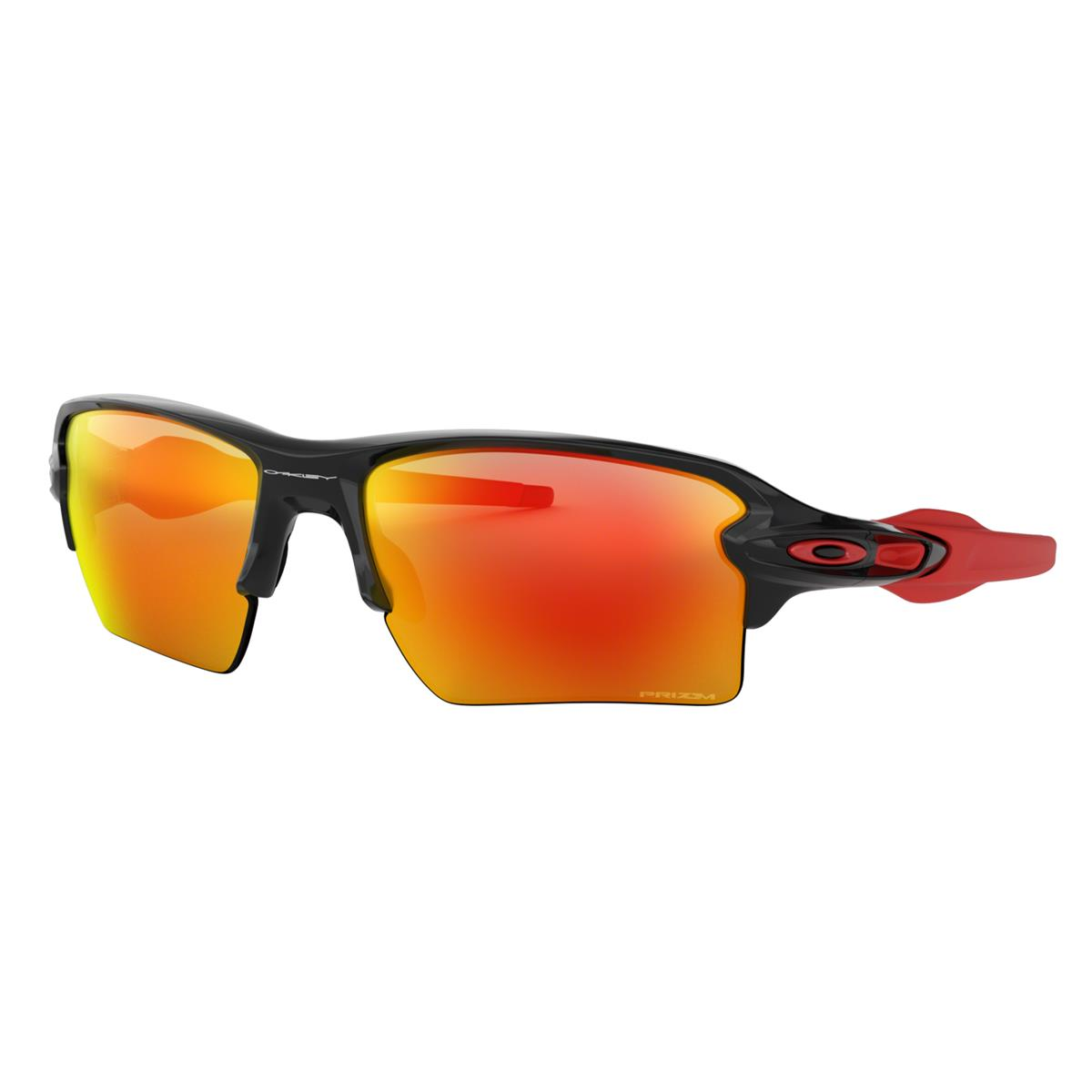 Oakley Sportbrille Flak 2.0 XL Polished Schwarz - Prizm Ruby