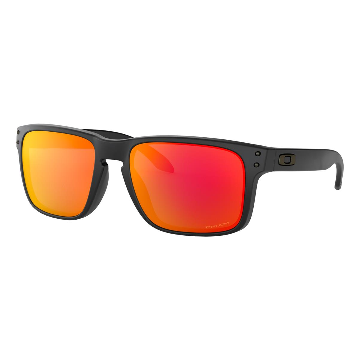 Oakley Sonnenbrille Holbrook Matt Schwarz - Prizm Ruby