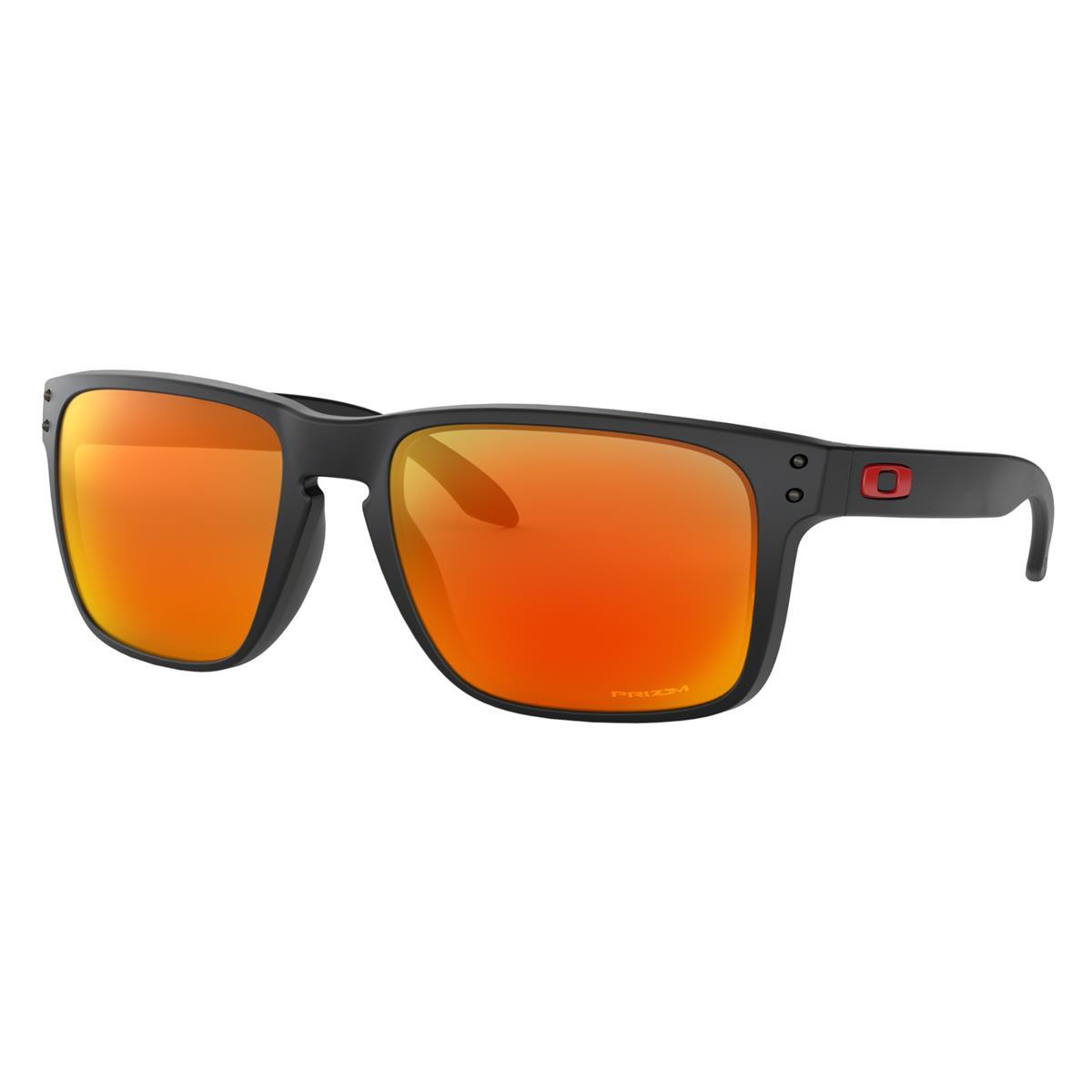 Oakley Sonnenbrille Holbrook XL Matt Schwarz - Prizm Ruby
