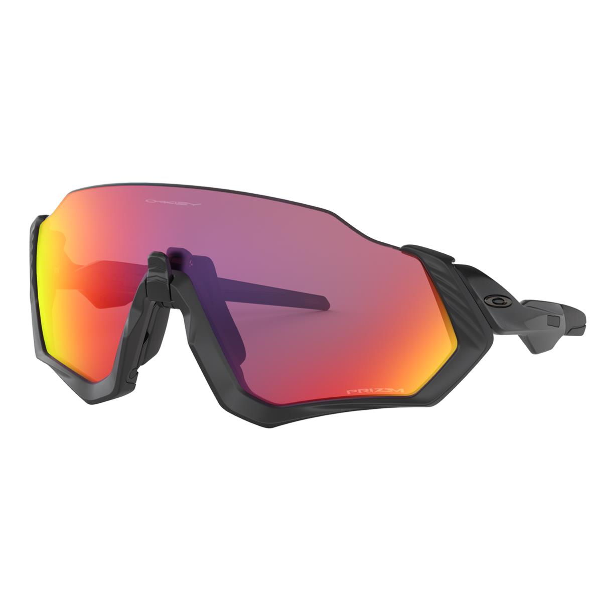 Oakley Sportbrille Flight Jacket Matt Schwarz - Prizm Road