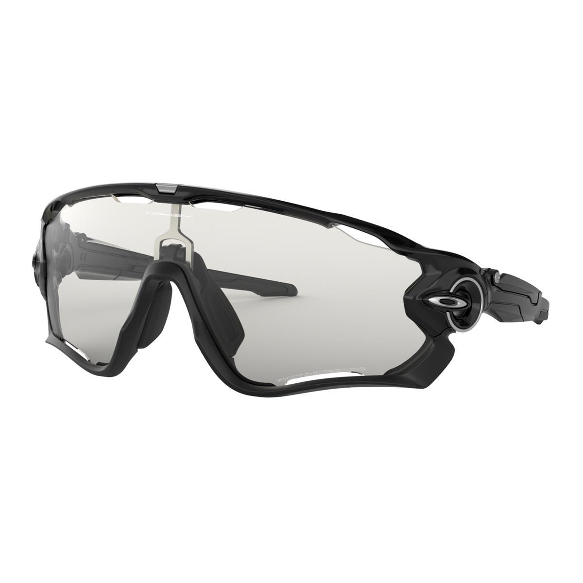 Oakley Sportbrille Jawbreaker Polished Schwarz - Schwarz Iridium Photochrom