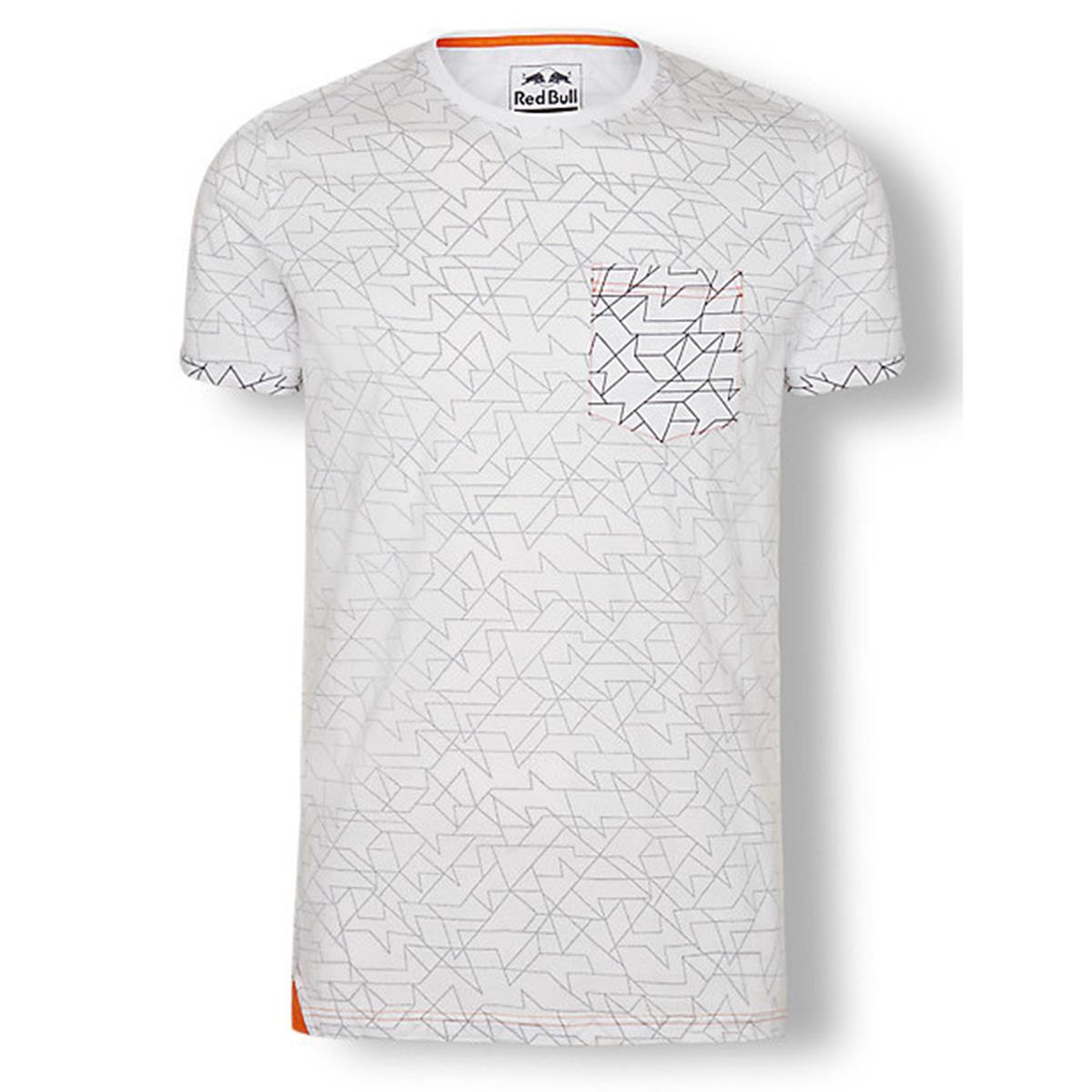 Red Bull T-Shirt KTM Inside Out Print Weiß