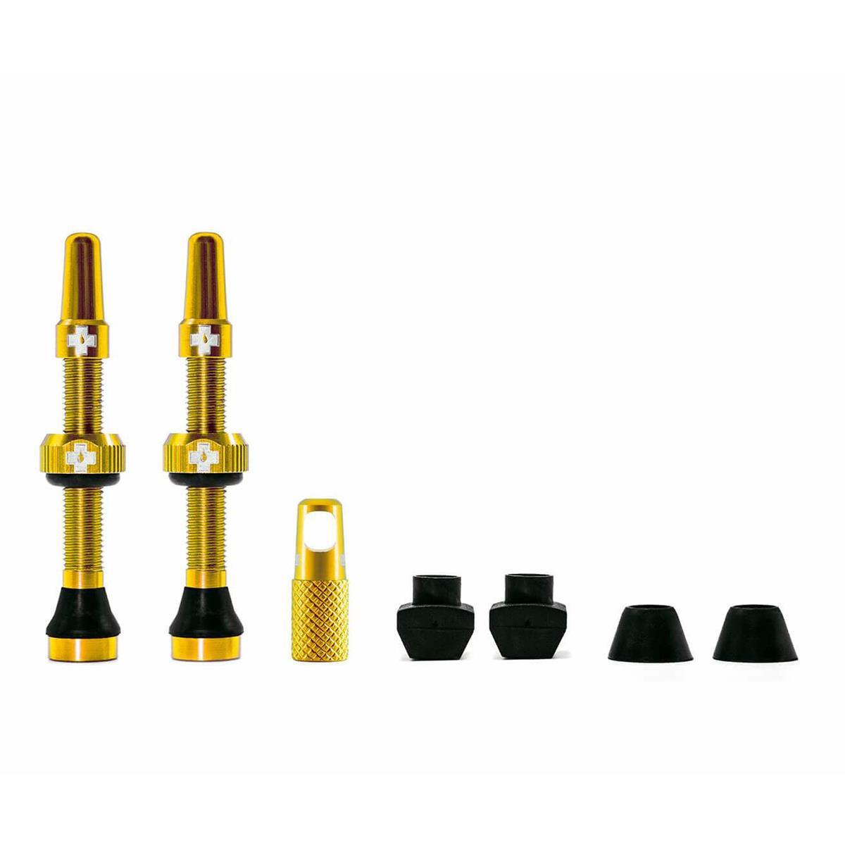 Muc-Off Tubeless Ventilset  Gold, 2 Stk.