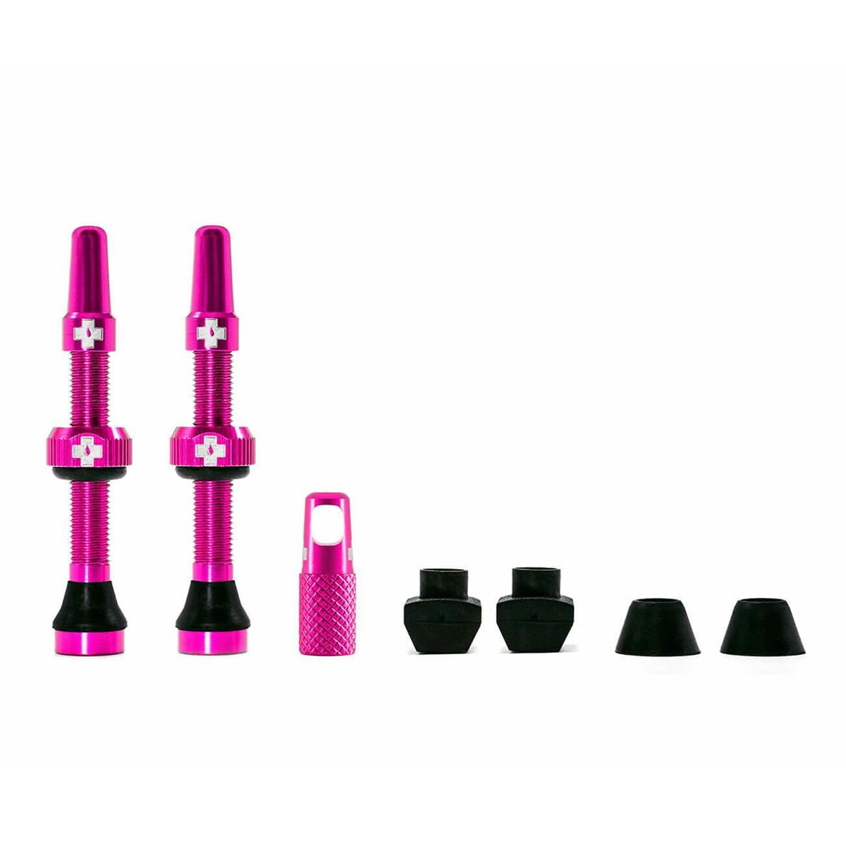Muc-Off Tubeless Ventilset  Pink, 2 Stk.