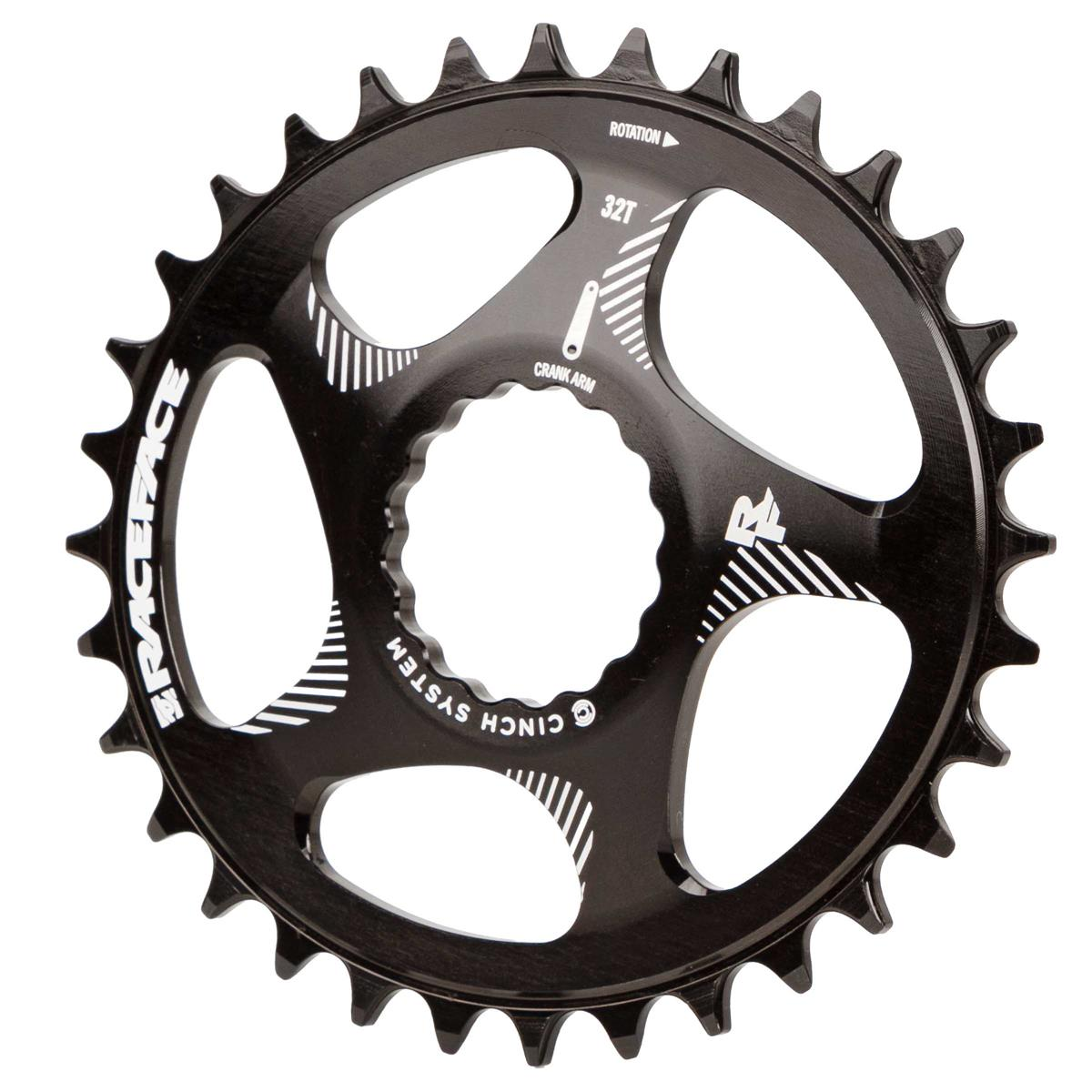 Race Face MTB-Kettenblatt Oval Schwarz, Direct Mount, Cinch, für 10/11/12-Fach
