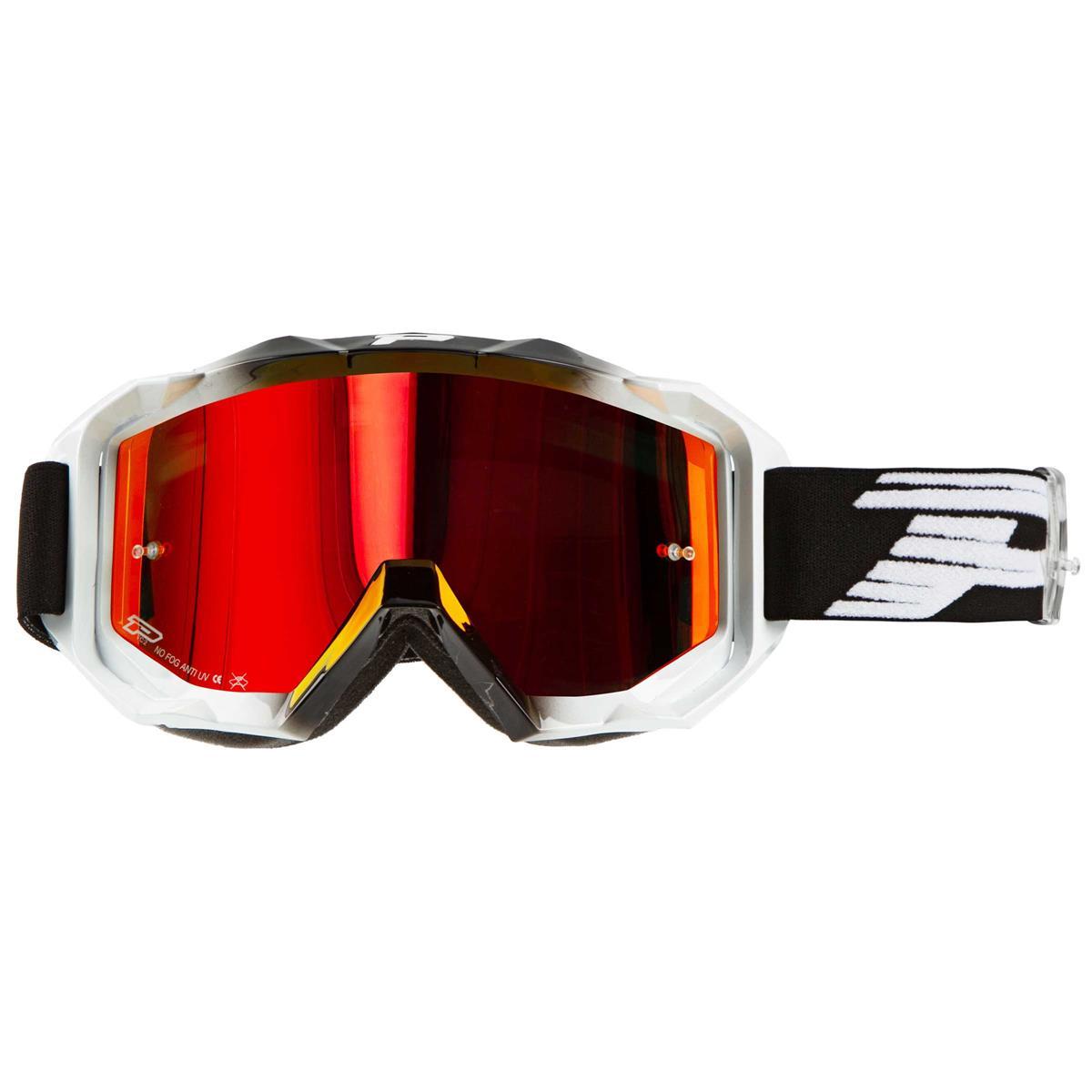 ProGrip Crossbrille 3200 FL Venom Schwarz/Weiß, Mirrored
