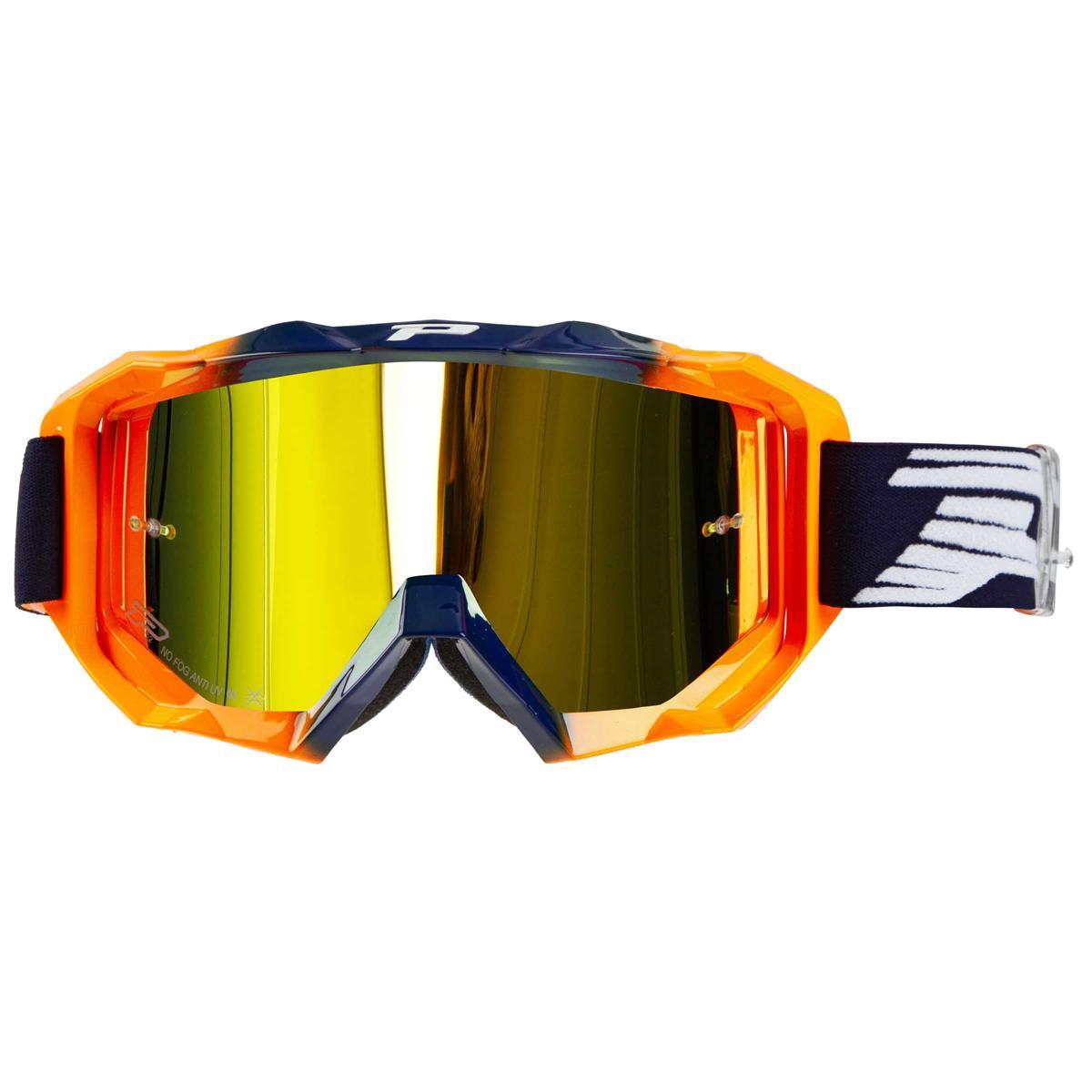 ProGrip Crossbrille 3200 FL Venom Blau/Orange Fluo, Mirrored