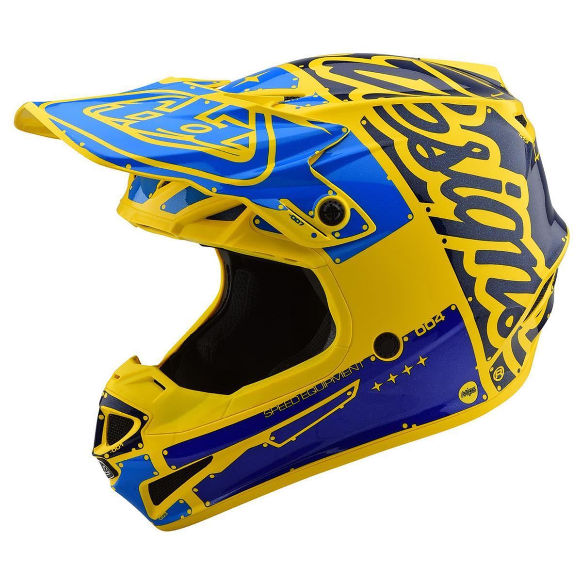 Troy Lee Designs Helm SE4 Polyacrylite MIPS Factory - Gelb/Blau