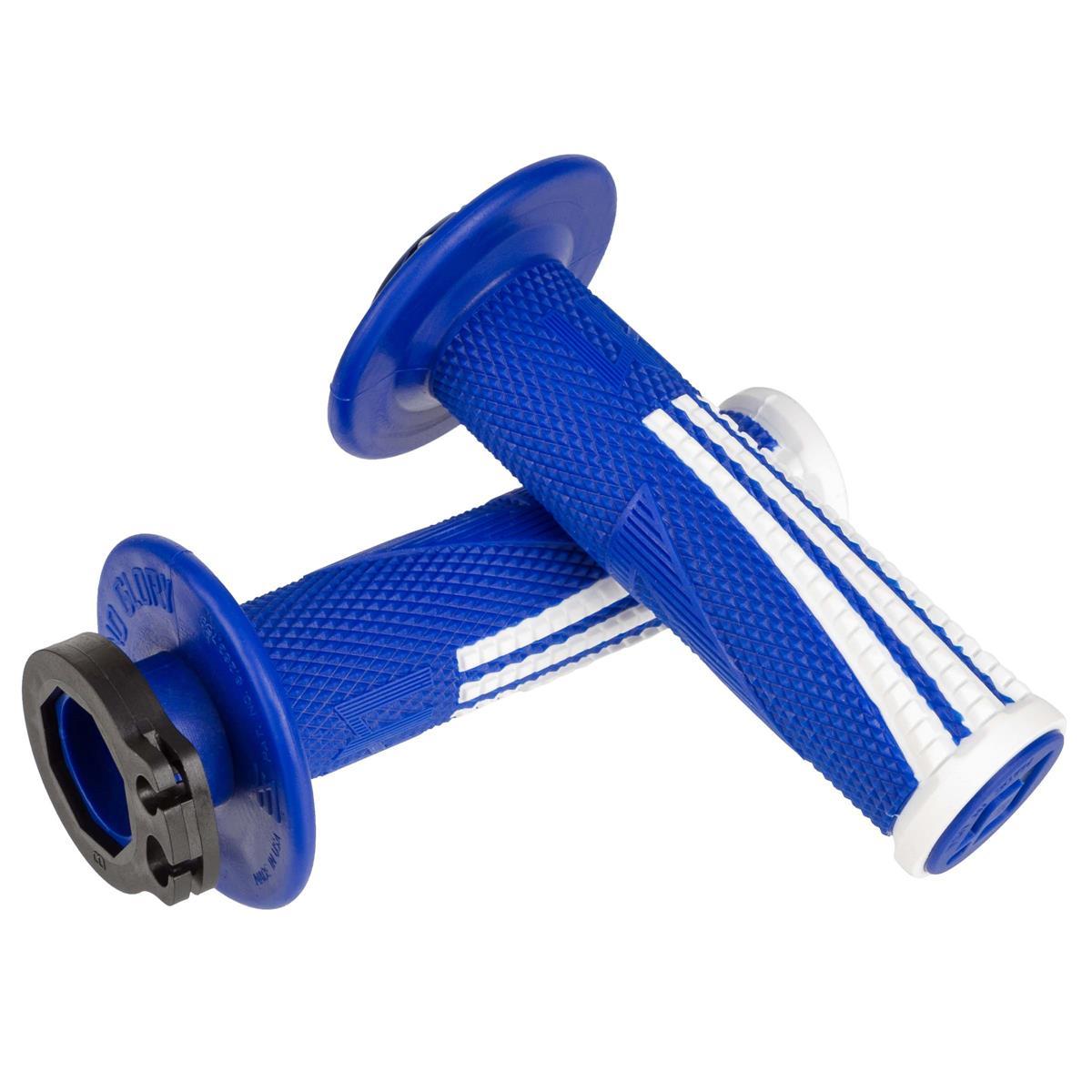 ODI Griffe Emig Pro V2 Lock-On verschraubt, Blau/Weiß