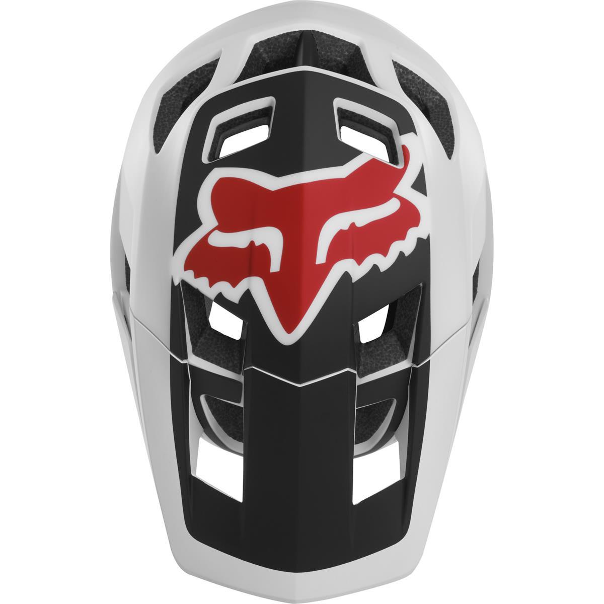 Fox Trail-MTB Helm Dropframe Schwarz//Wei/ß