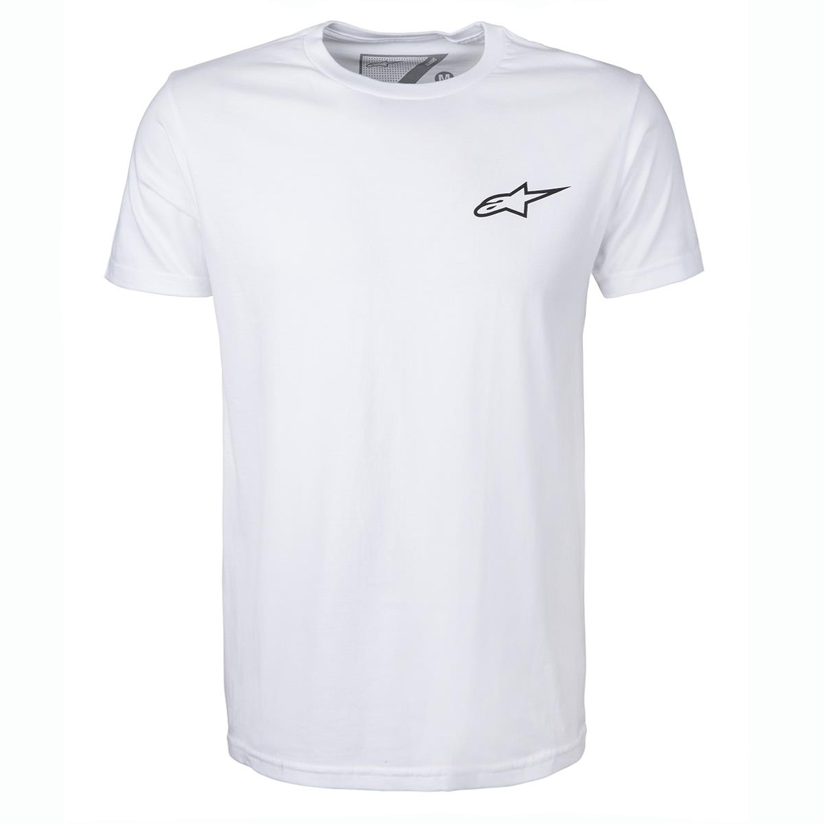 Alpinestars T-Shirt Neu Ageless Weiß/Schwarz