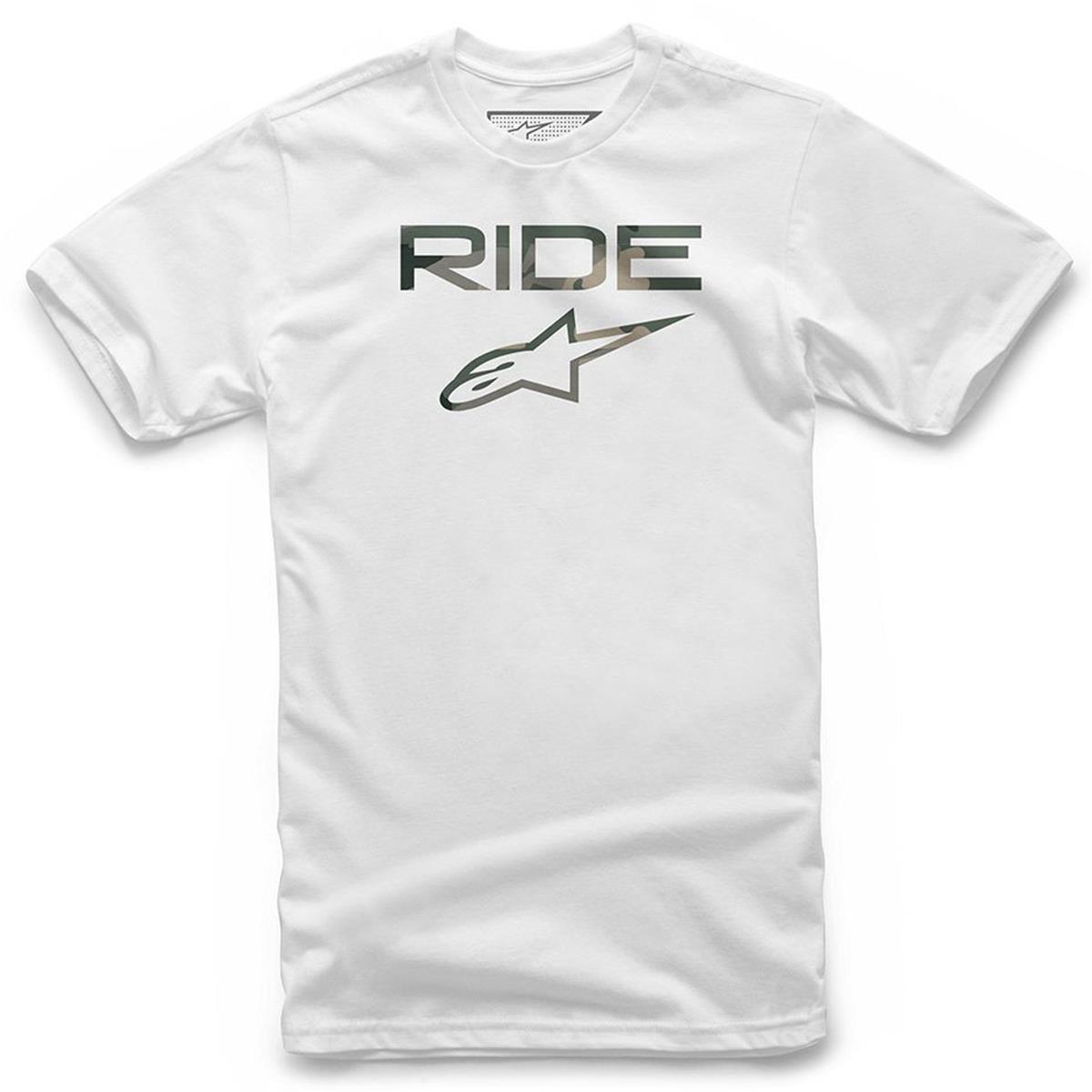 Alpinestars T-Shirt Ride 2.0 Camo Weiß