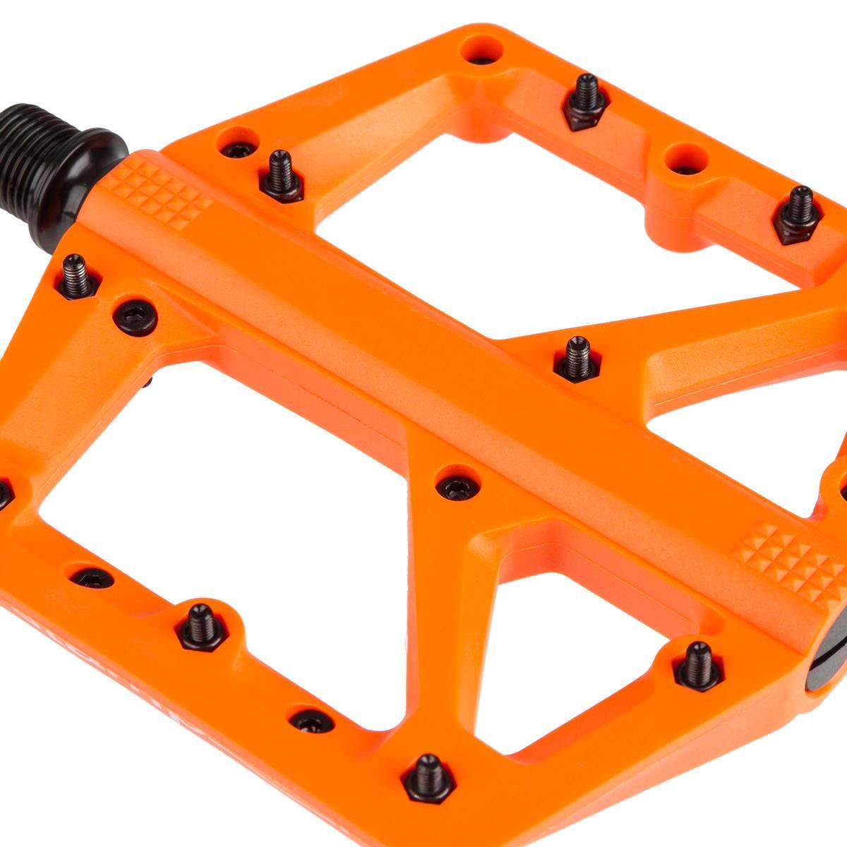 Orange Crank Brothers Stamp 1 Small Platform Pedals