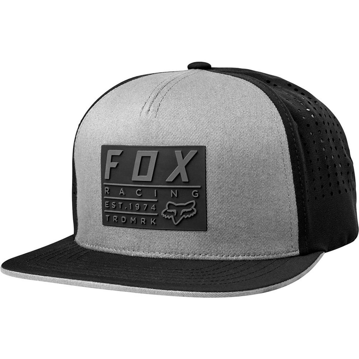 Fox Snapback Cap Redplate Tech Steel Grey