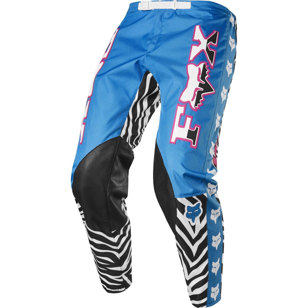Fox MX Hose Retro Zebra Limited Edition - Cyan