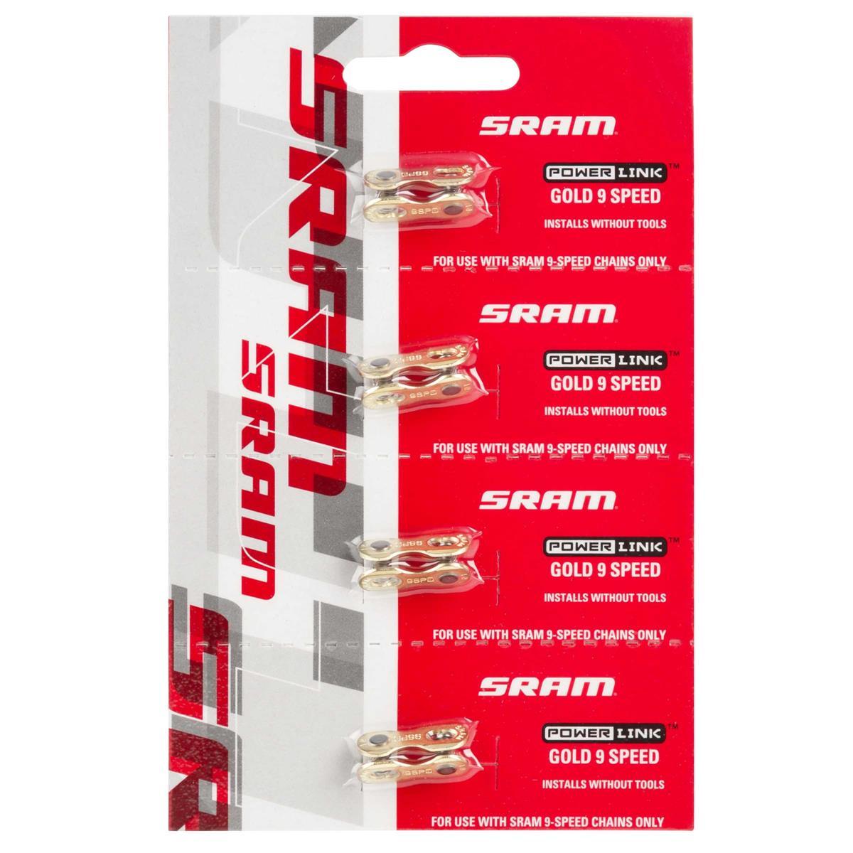 SRAM MTB-Kettenschloss Power Link 9-fach, Gold