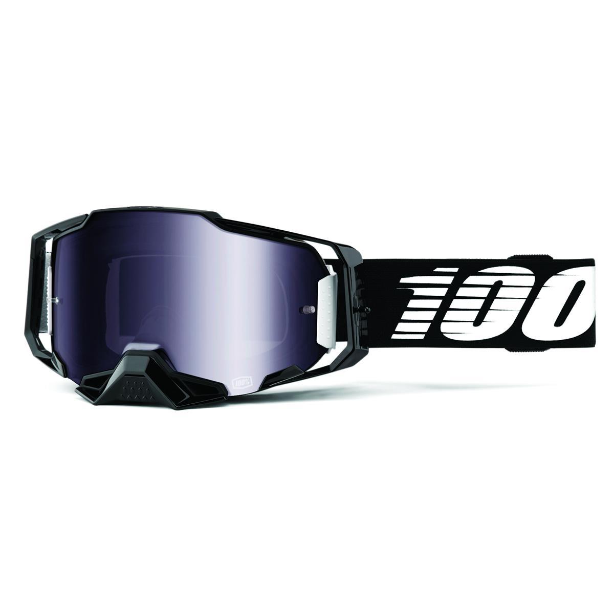 100% Crossbrille Armega Schwarz - verspiegelt, Anti Fog