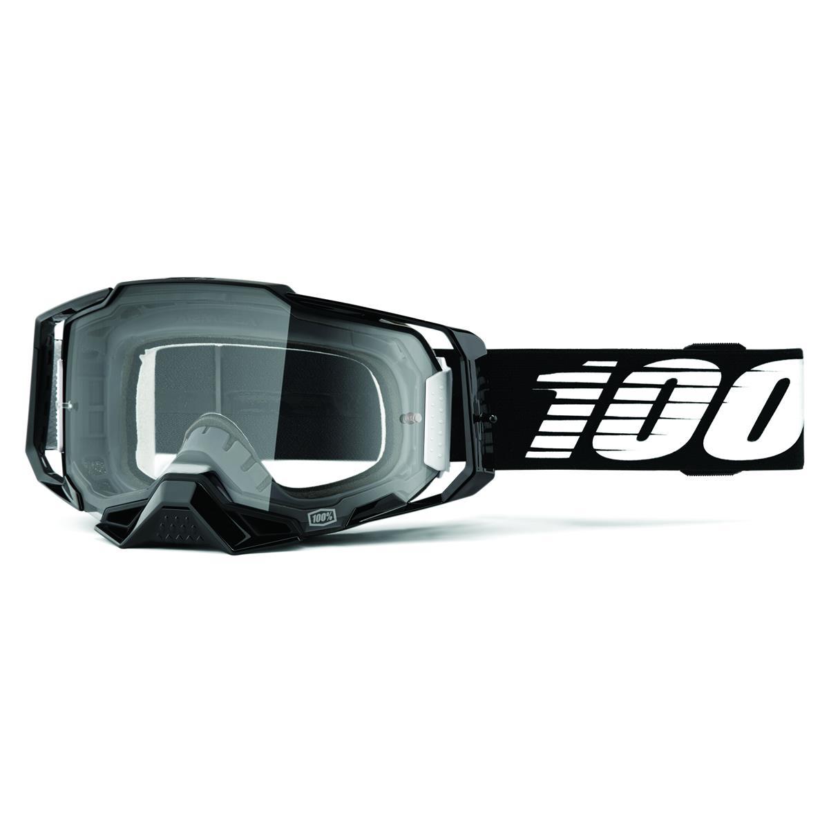 100% Crossbrille Armega Schwarz - Klar, Anti Fog