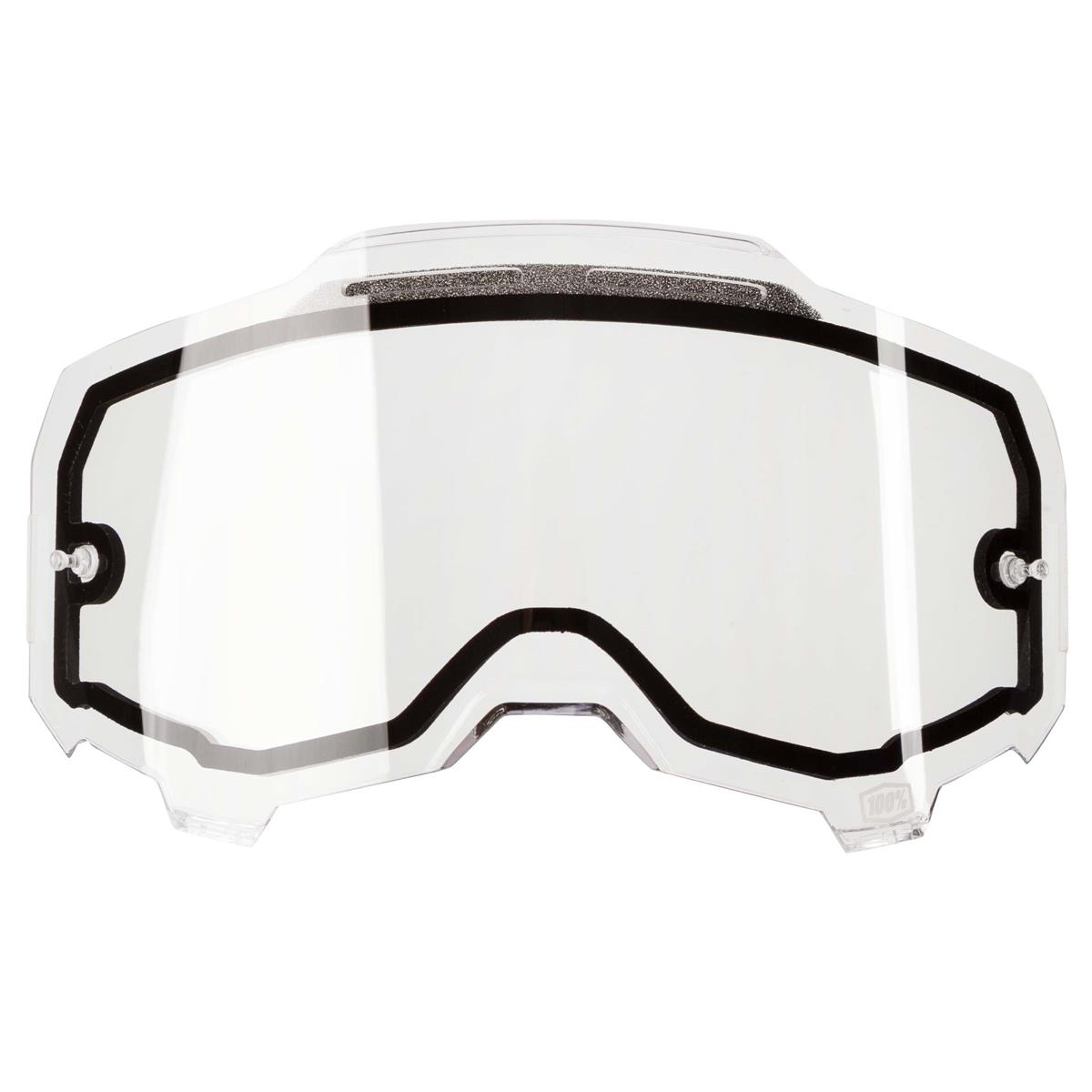 100% Ersatzglas Armega Klar - Vented Dual Panel, Anti Fog