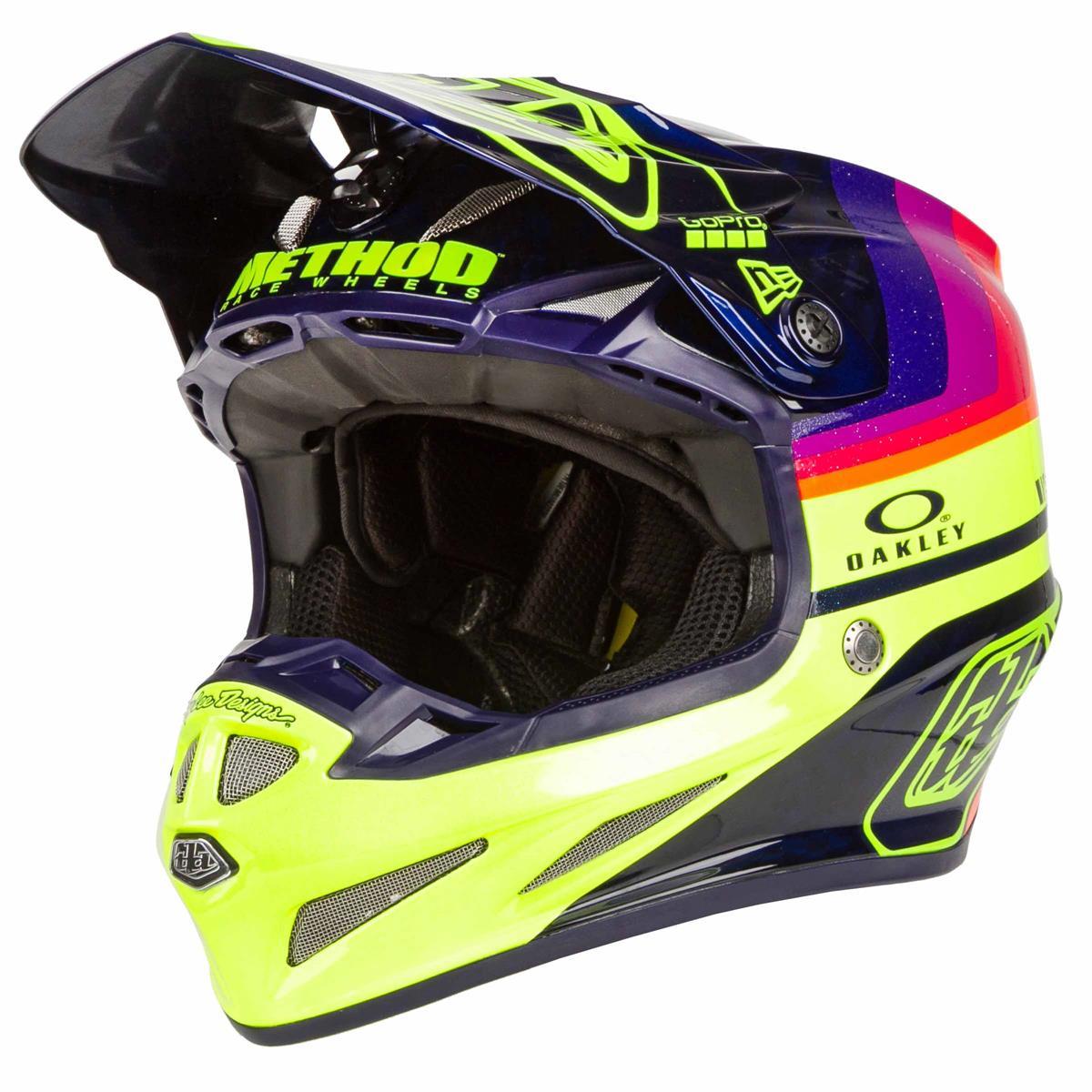 Troy Lee Designs MX Helm SE 4 Vegas Limited Edition - Mirage, Navy/Fluo Gelb