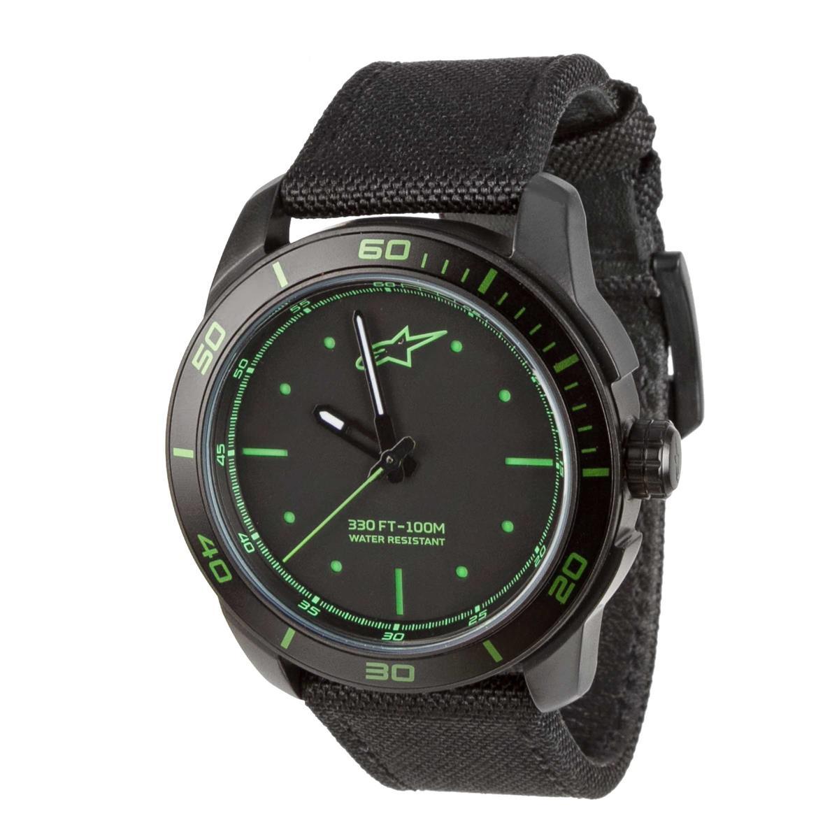Alpinestars Uhr Tech Watch Schwarz/Grün