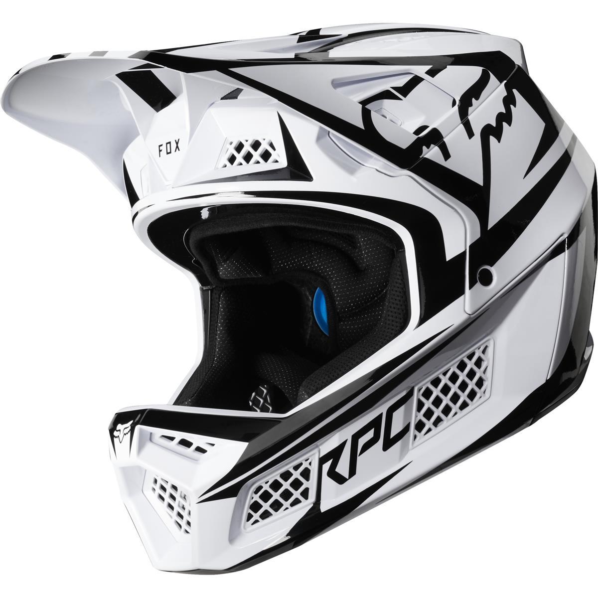 Fox Downhill-MTB Helm Rampage Pro Carbon Beast - Carbon Weiß