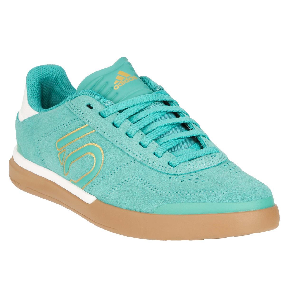 Five Ten Girls MTB-Schuhe Sleuth DLX True Green/Chalk White/Cardboard