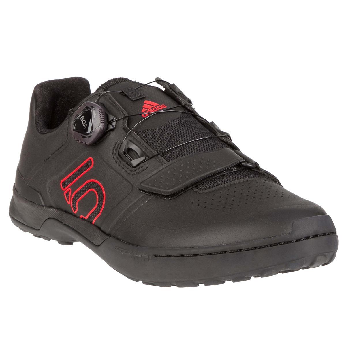 Five Ten MTB-Schuhe Kestrel Pro BOA Clipless Core Black/Red/Grey Six