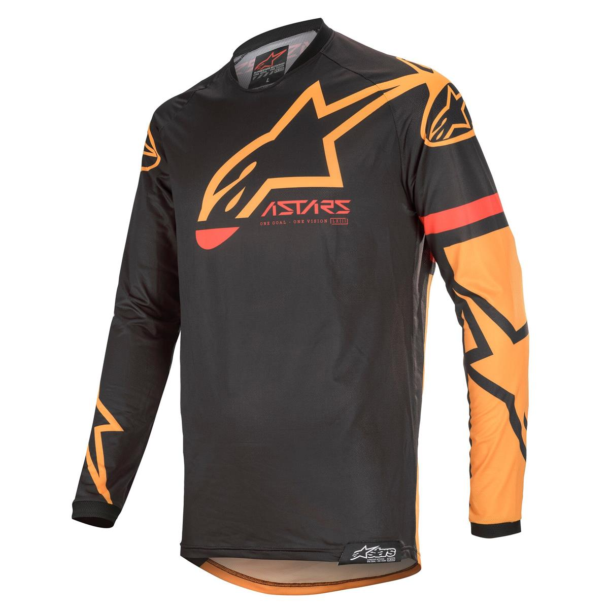Alpinestars Jersey Racer Tech Compass - Schwarz/Orange