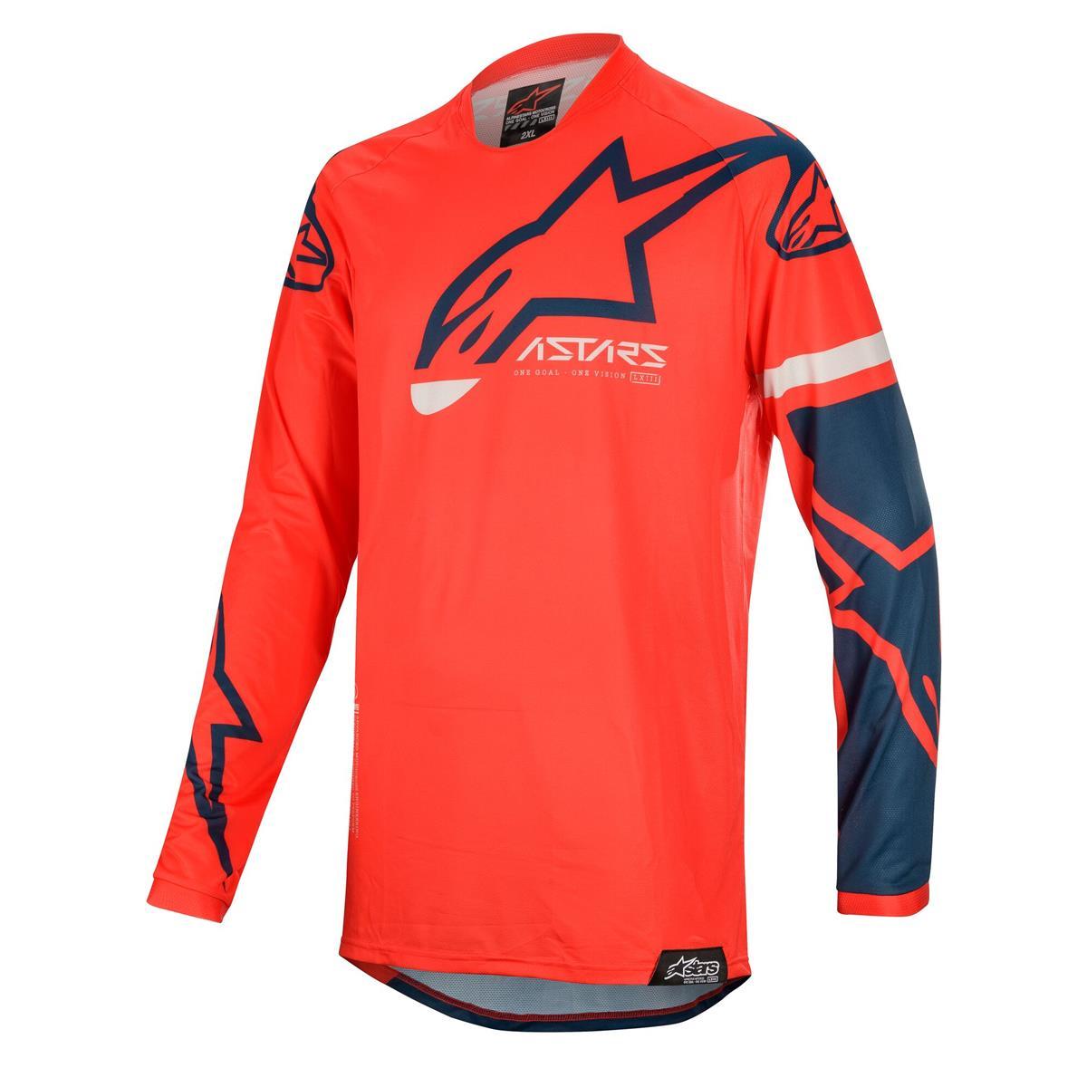 Alpinestars Jersey Racer Tech Compass - Bright Red/Navy