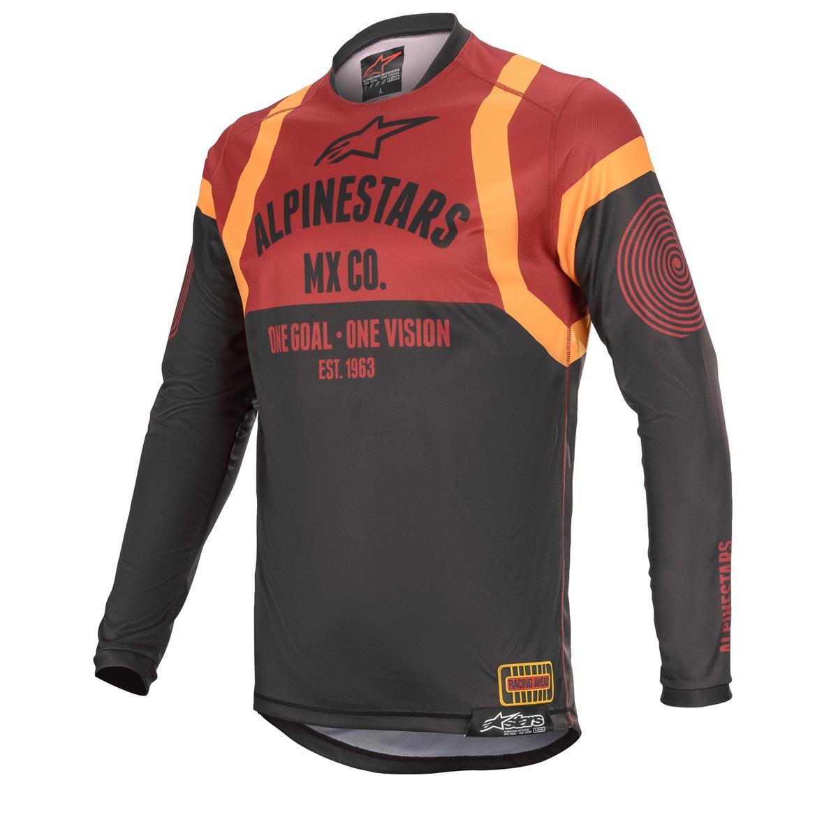 Alpinestars Jersey Racer Tech Flagship - Schwarz/Bordeaux/Orange